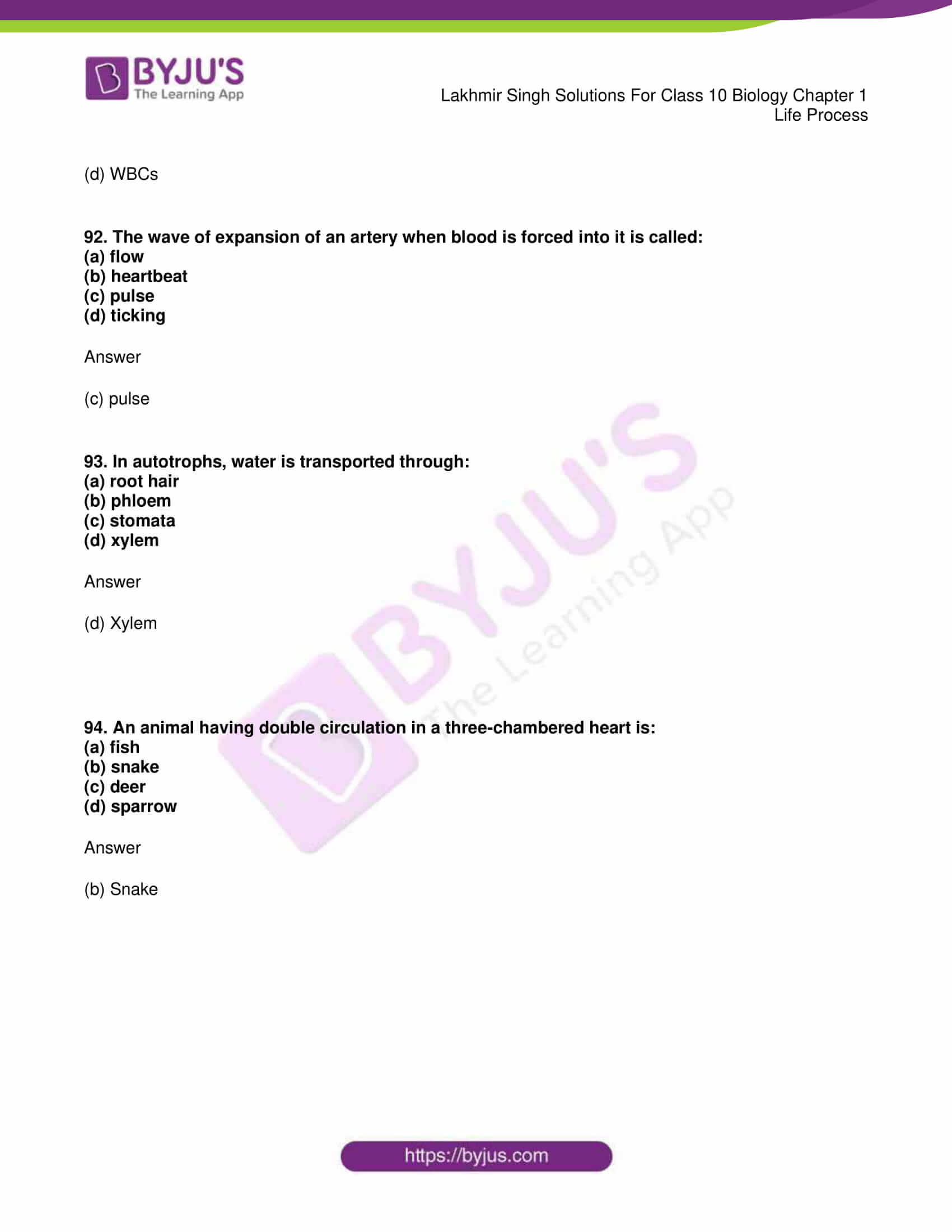 lakhmir singh sol class 10 biology chapter 1 89