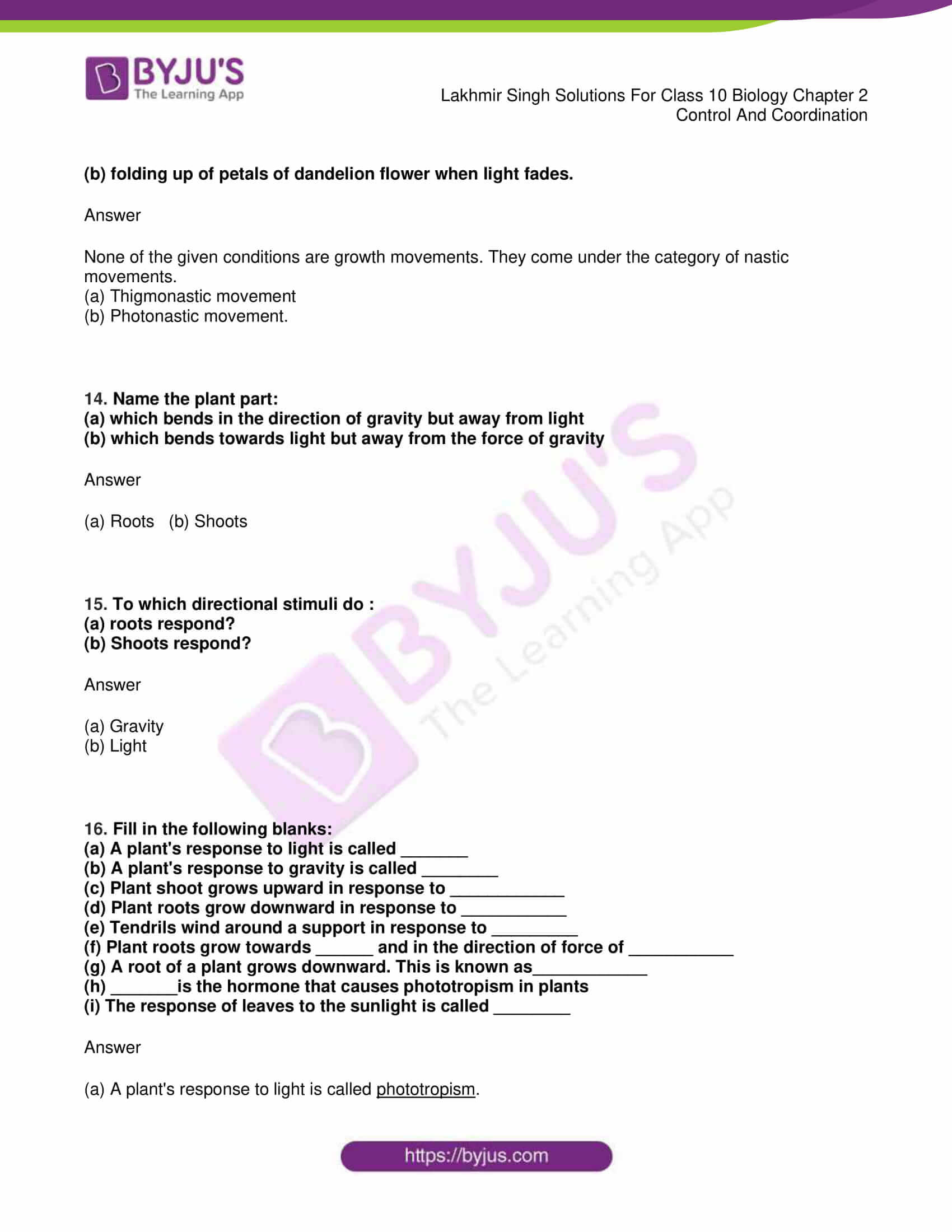lakhmir singh sol class 10 biology chapter 2 04