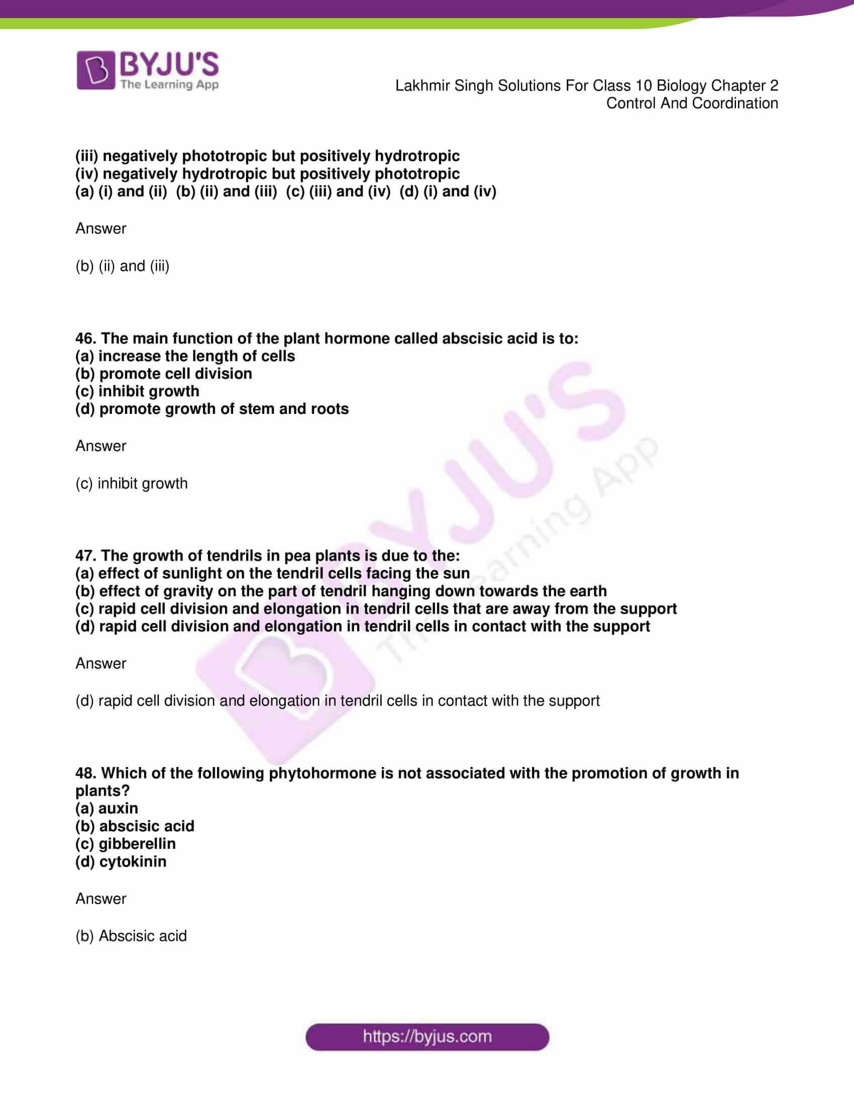 lakhmir singh sol class 10 biology chapter 2 16