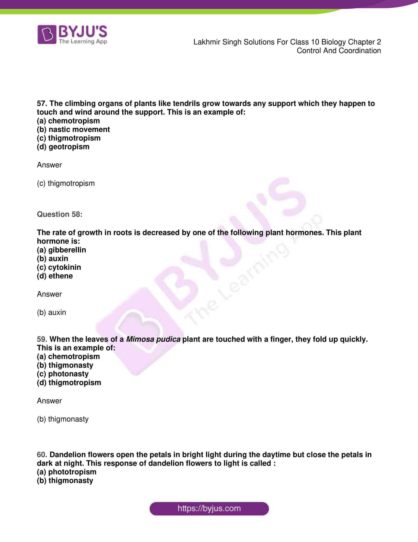 lakhmir singh sol class 10 biology chapter 2 19