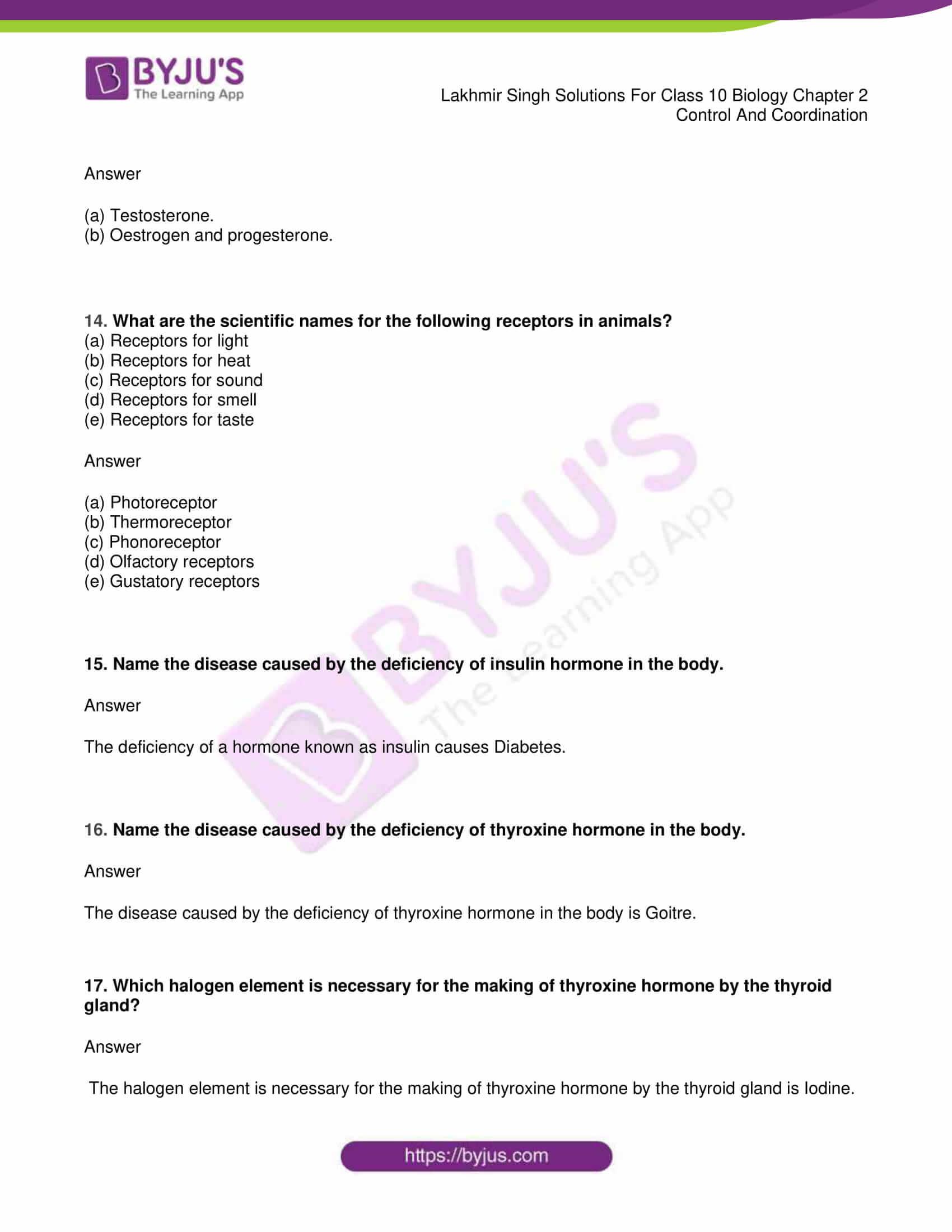 lakhmir singh sol class 10 biology chapter 2 25