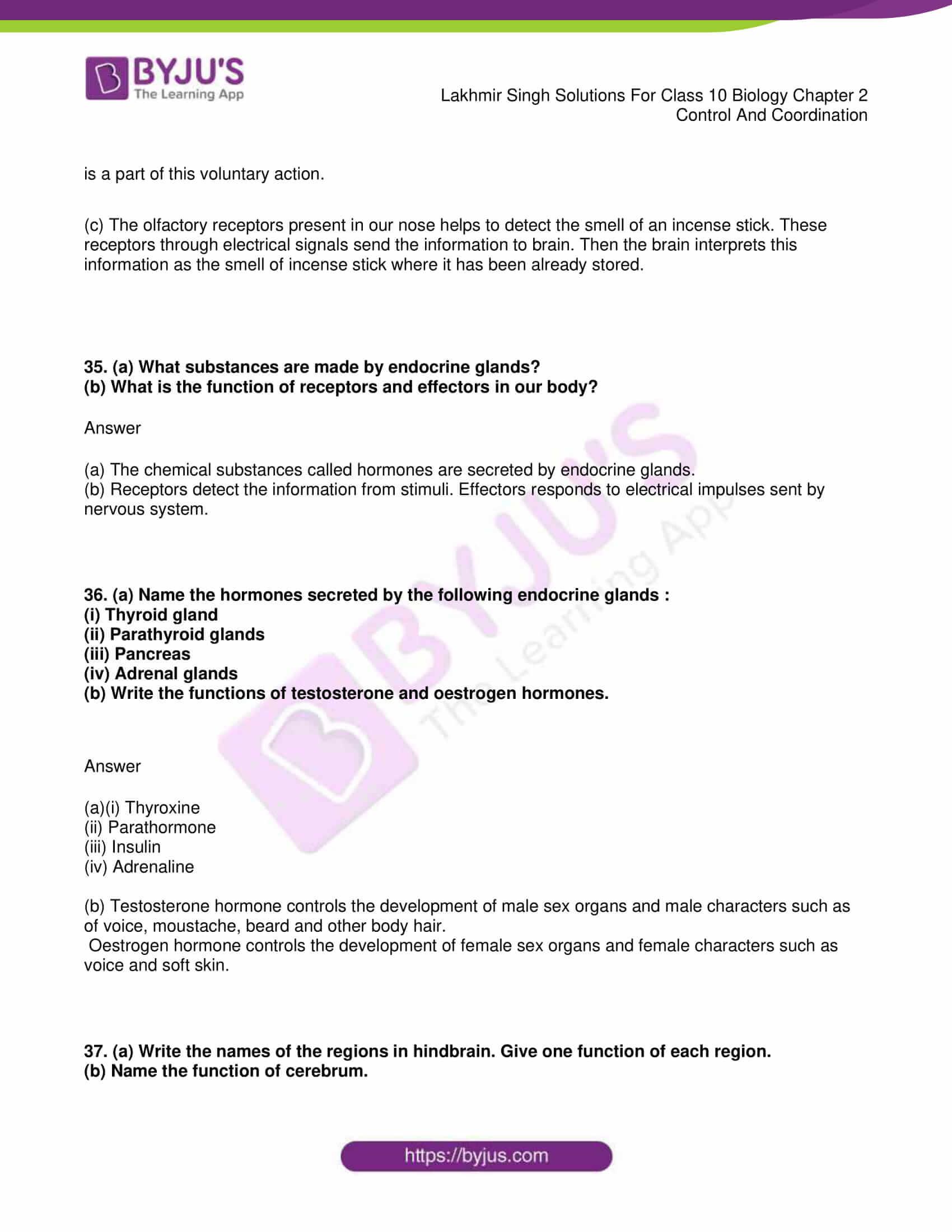 lakhmir singh sol class 10 biology chapter 2 30