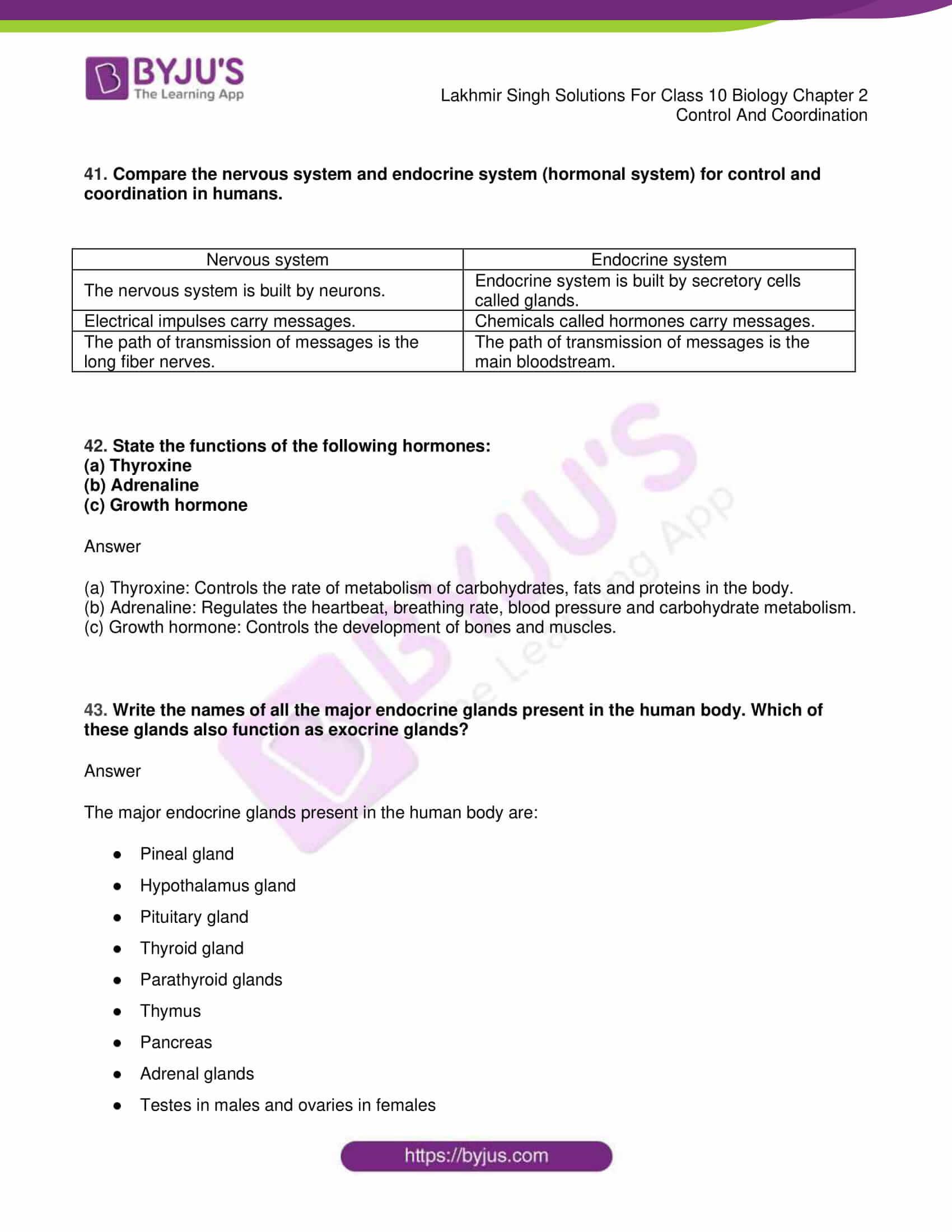 lakhmir singh sol class 10 biology chapter 2 32