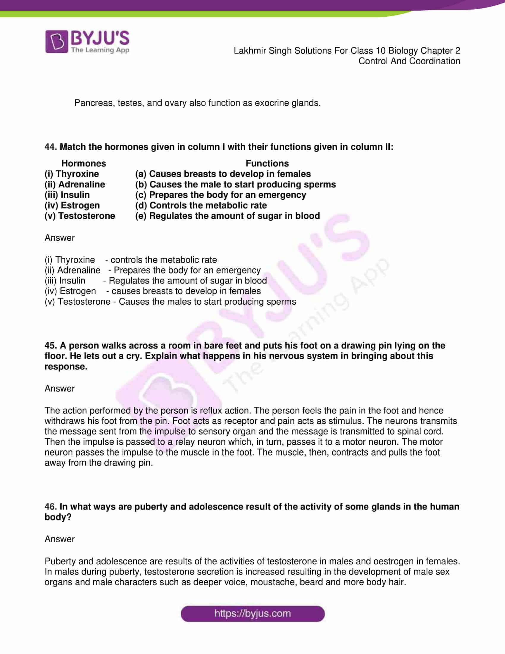 lakhmir singh sol class 10 biology chapter 2 33