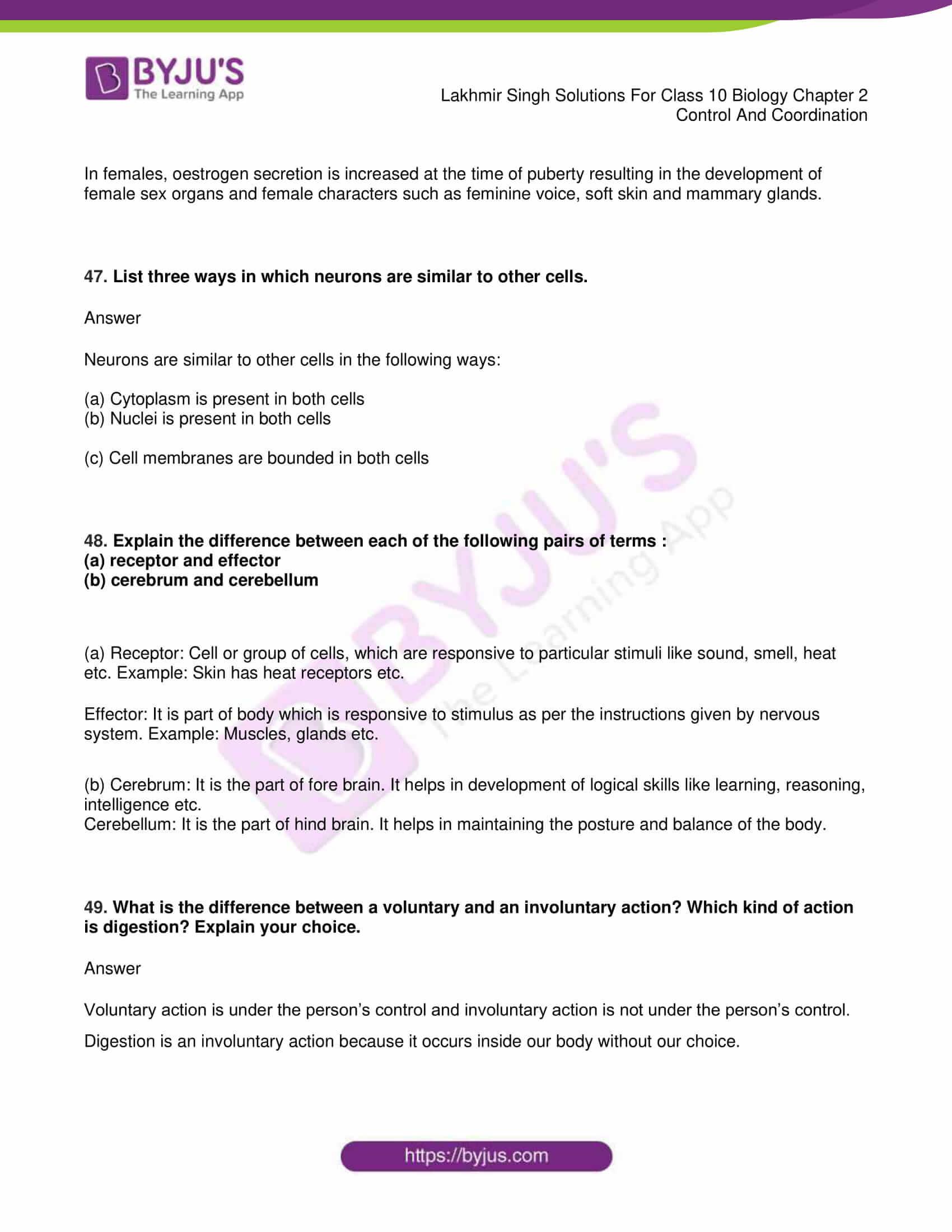 lakhmir singh sol class 10 biology chapter 2 34