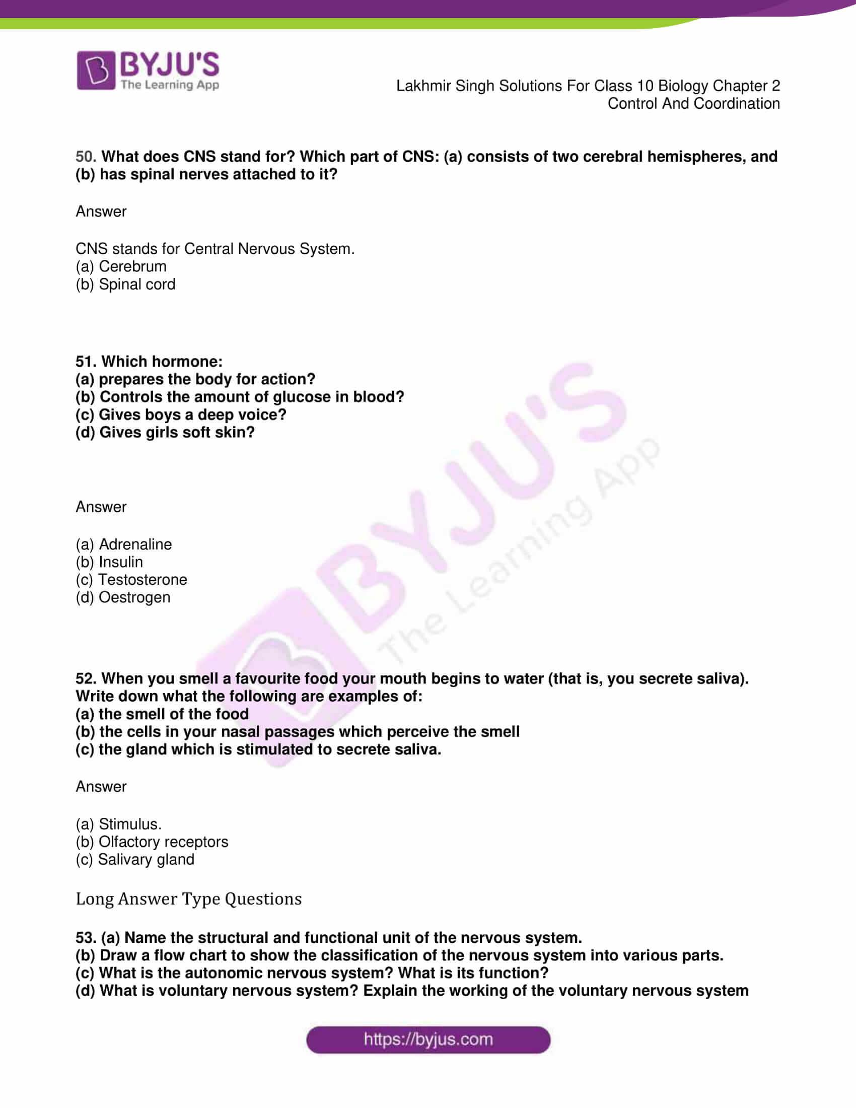 lakhmir singh sol class 10 biology chapter 2 35