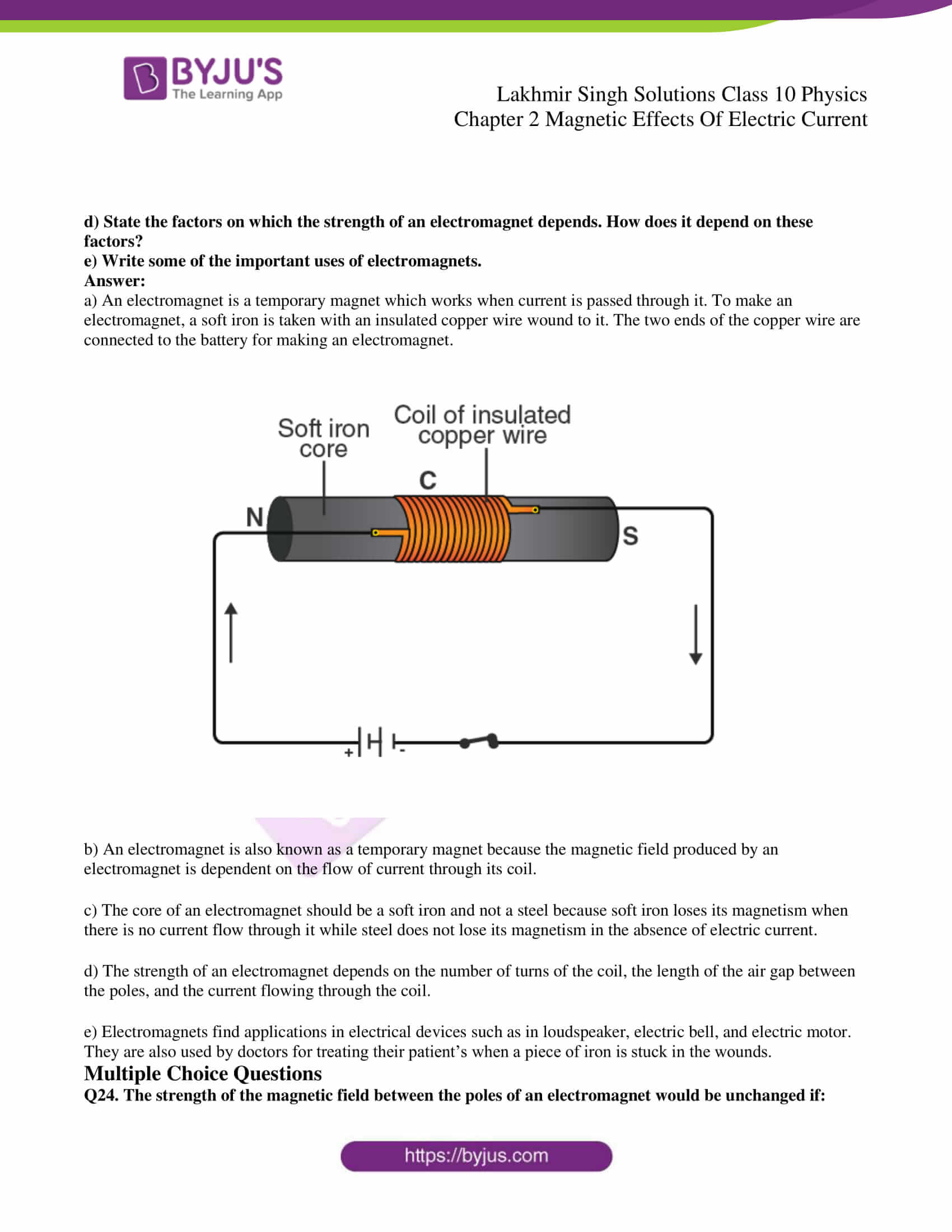 lakhmir singh sol class 10 physics chapter 2 14