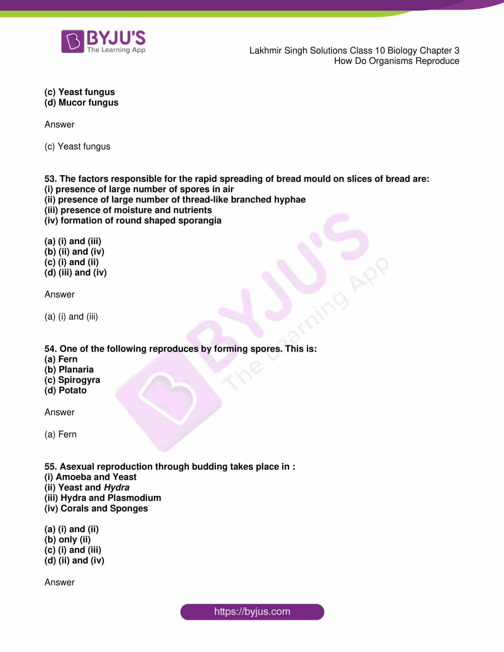 lakhmir singh solutions class 10 biology chapter 3 20
