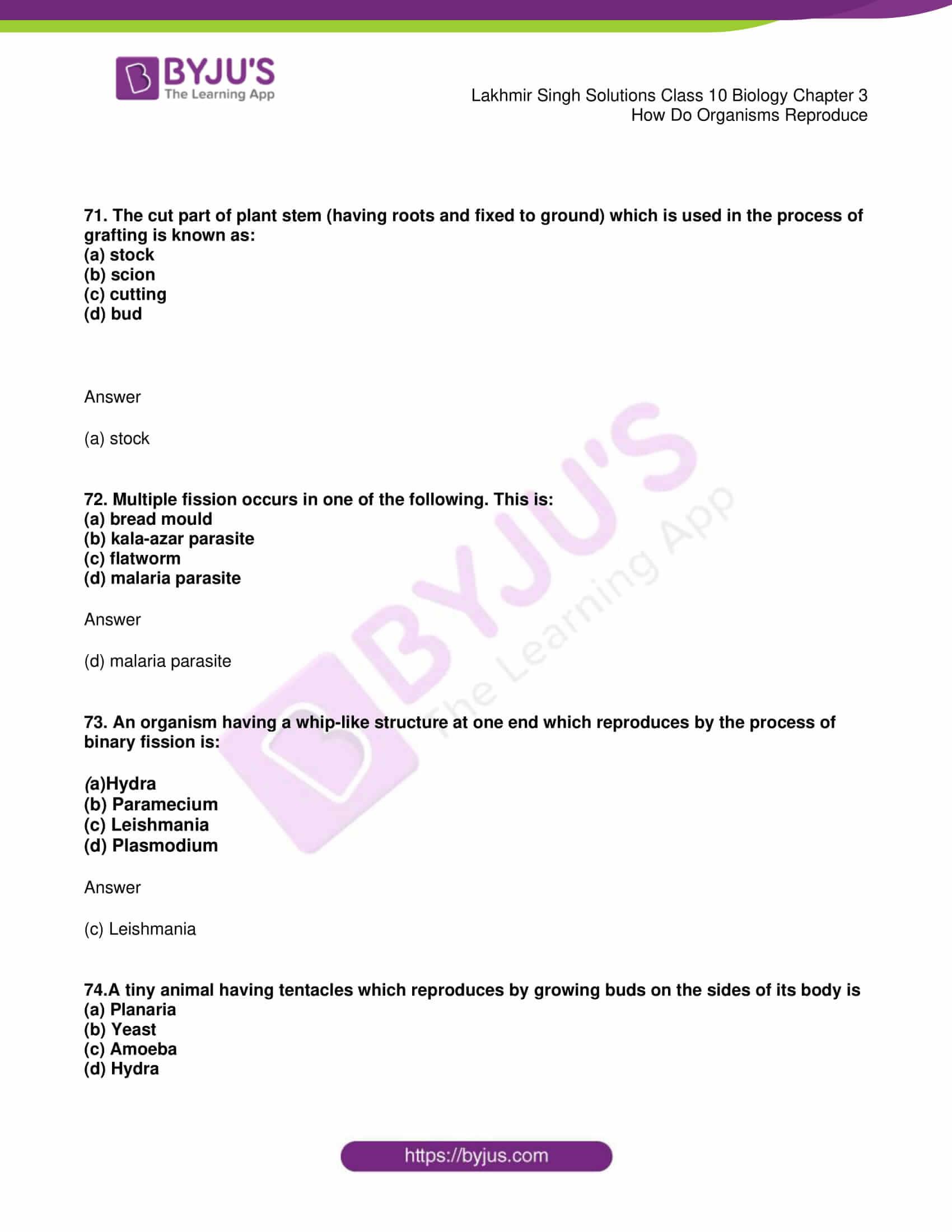 lakhmir singh solutions class 10 biology chapter 3 25