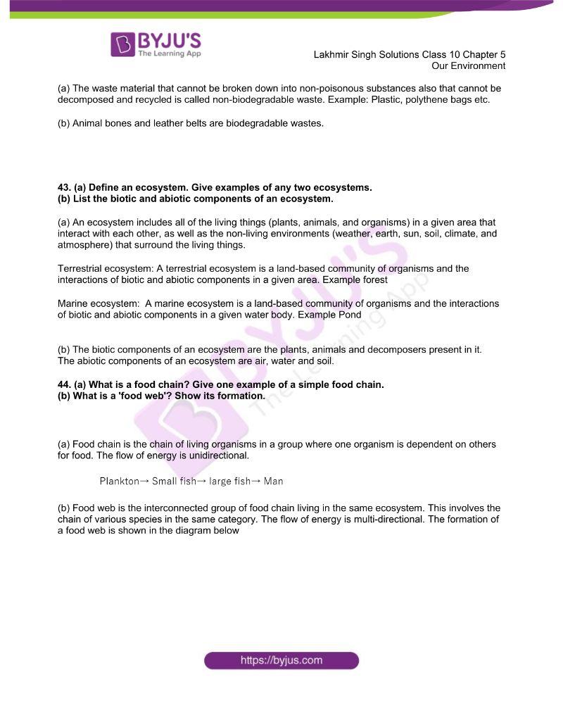 Lakhmir Singh Solutions Class 10 Biology Chapter 5 Our Environment 11