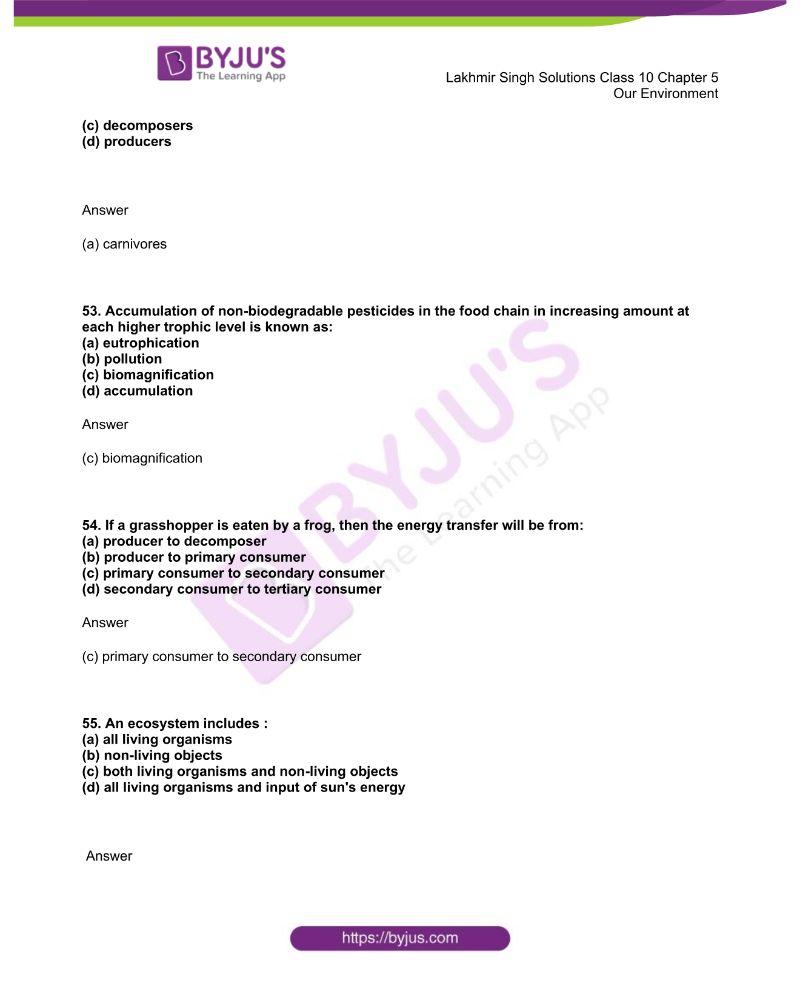 Lakhmir Singh Solutions Class 10 Biology Chapter 5 Our Environment 15