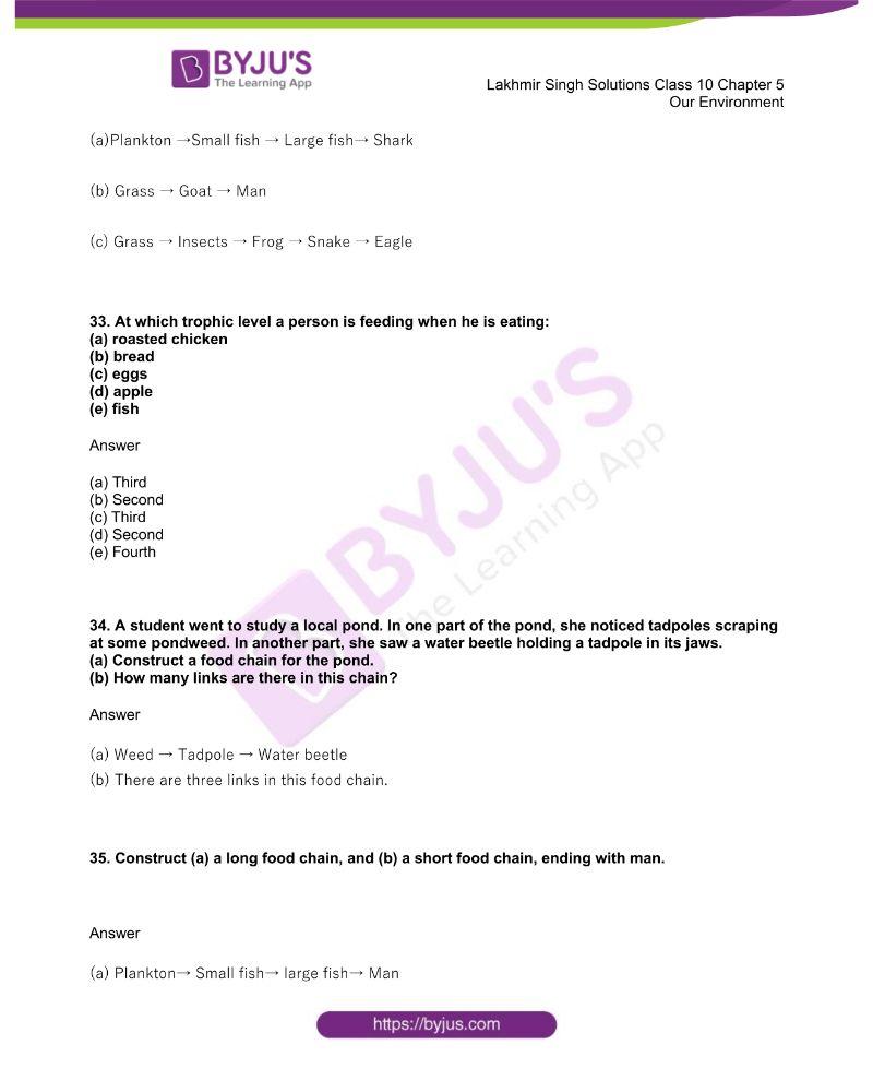 Lakhmir Singh Solutions Class 10 Biology Chapter 5 Our Environment 8