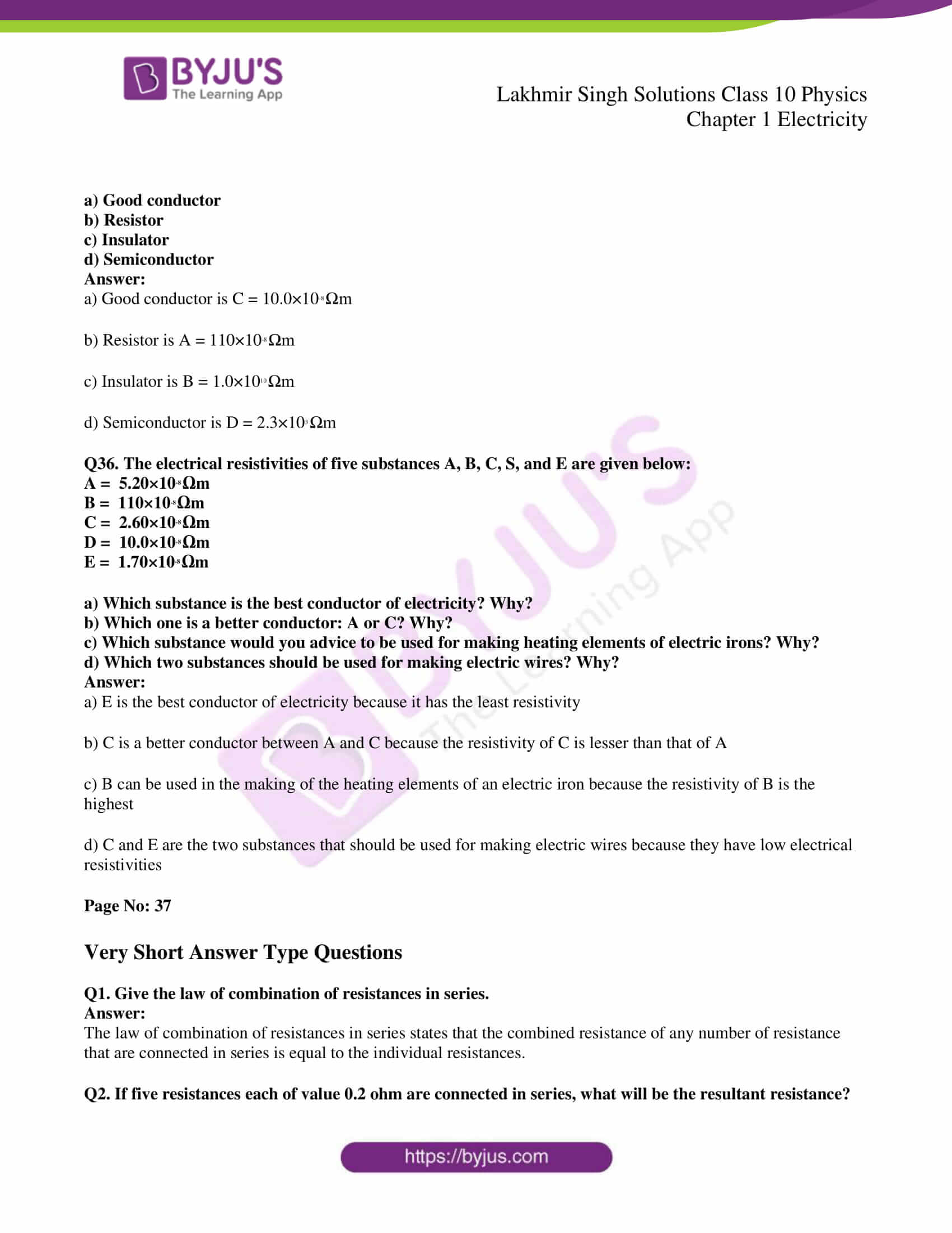 lakhmir singh solutions class 10 physics chapter 1 36