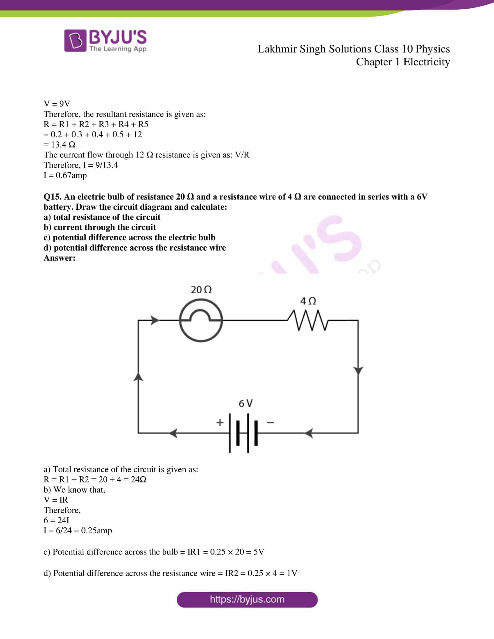 lakhmir singh solutions class 10 physics chapter 1 42
