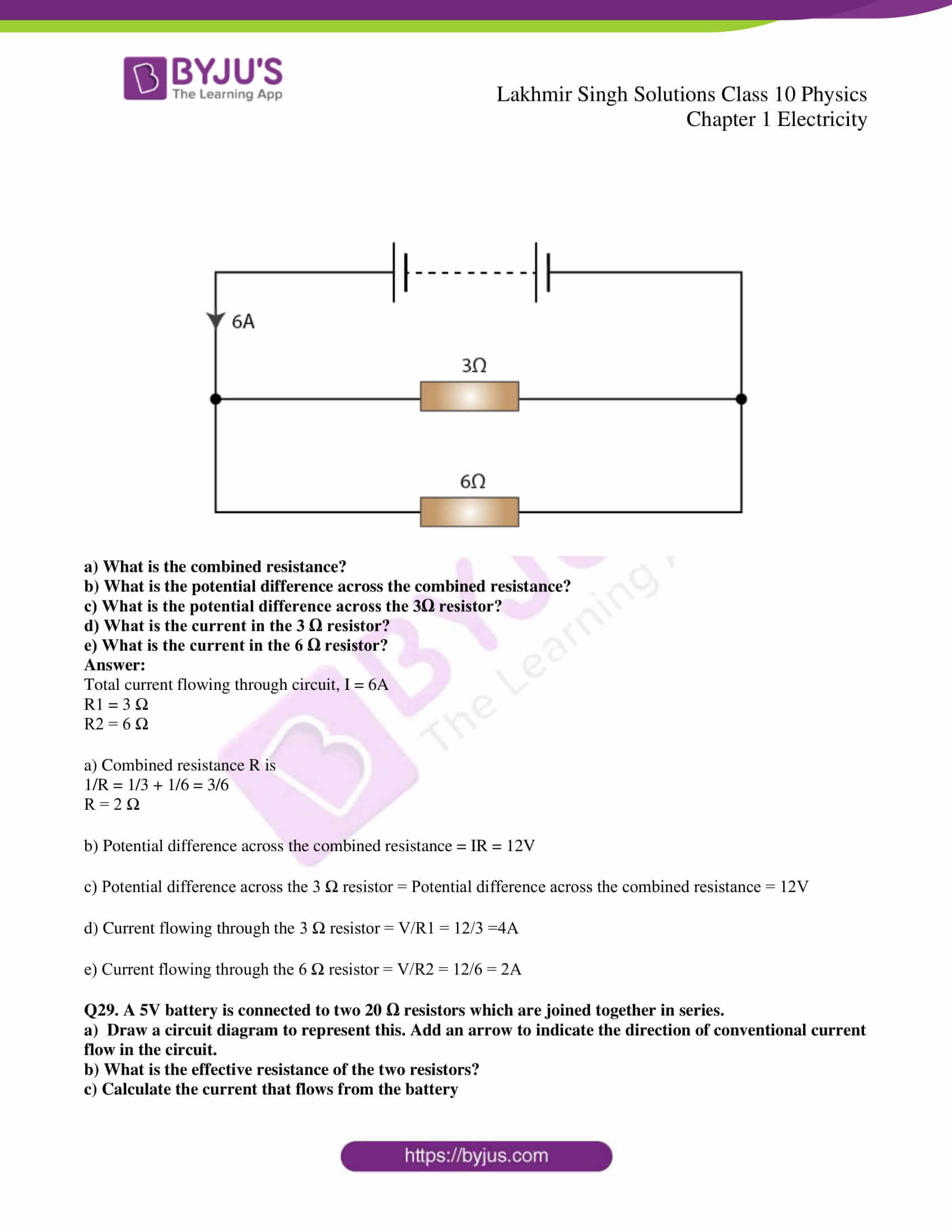 lakhmir singh solutions class 10 physics chapter 1 52