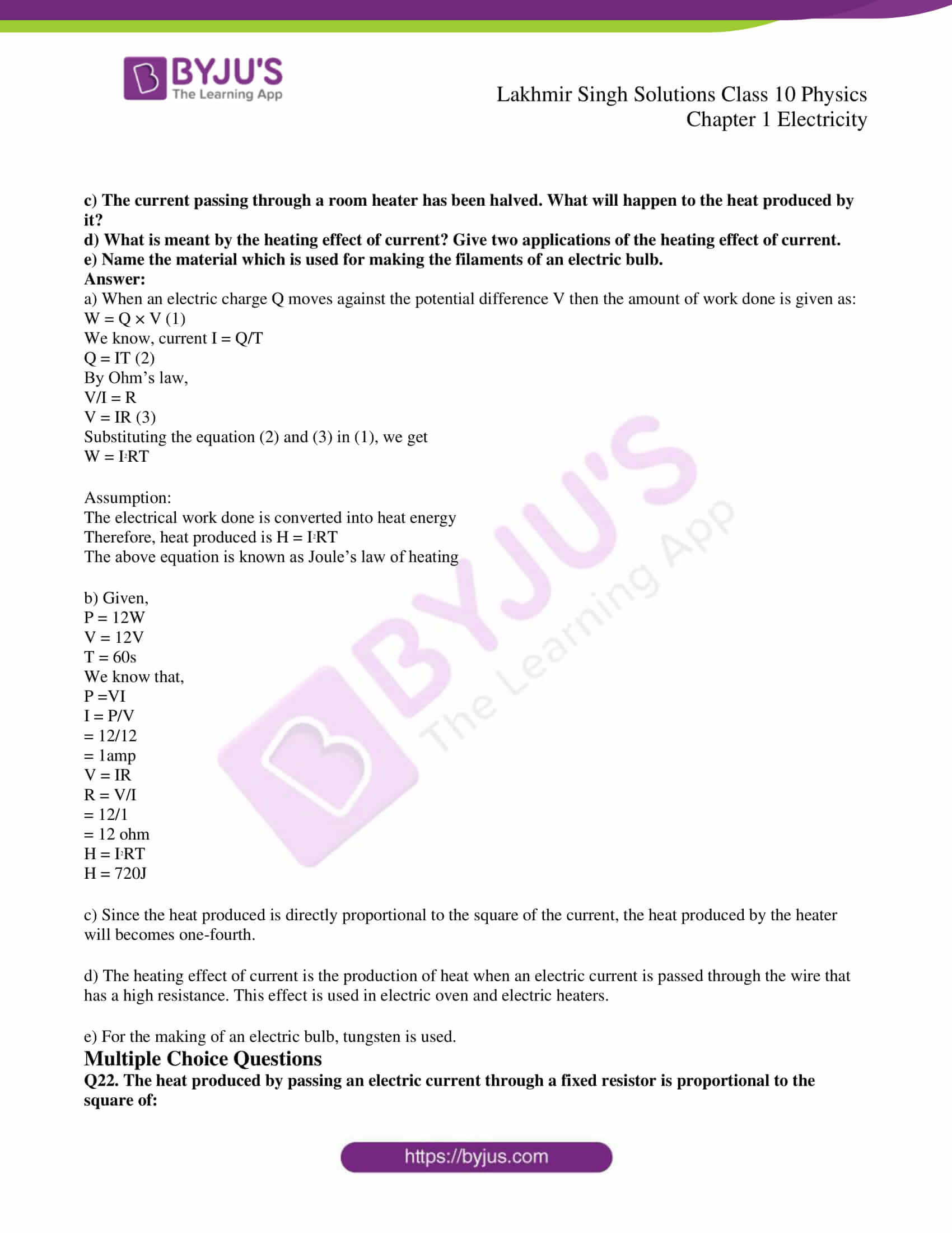 lakhmir singh solutions class 10 physics chapter 1 88