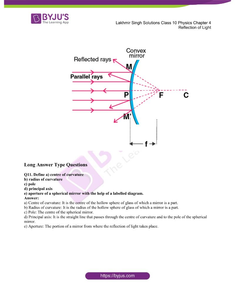 Lakhmir Singh Solutions Class 10 Physics Chapter 4 Reflection Of Light 13