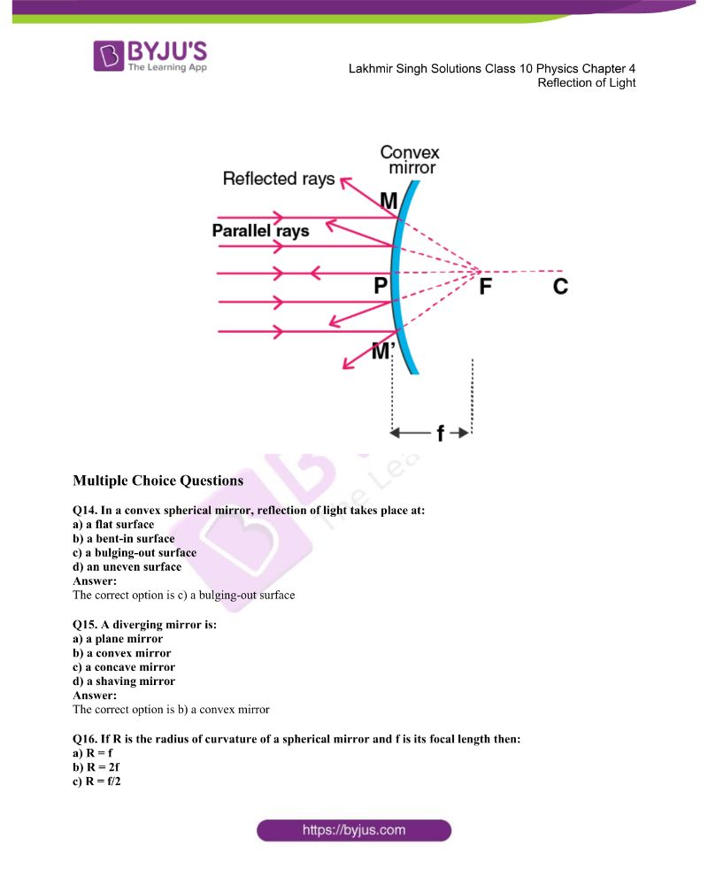 Lakhmir Singh Solutions Class 10 Physics Chapter 4 Reflection Of Light 16