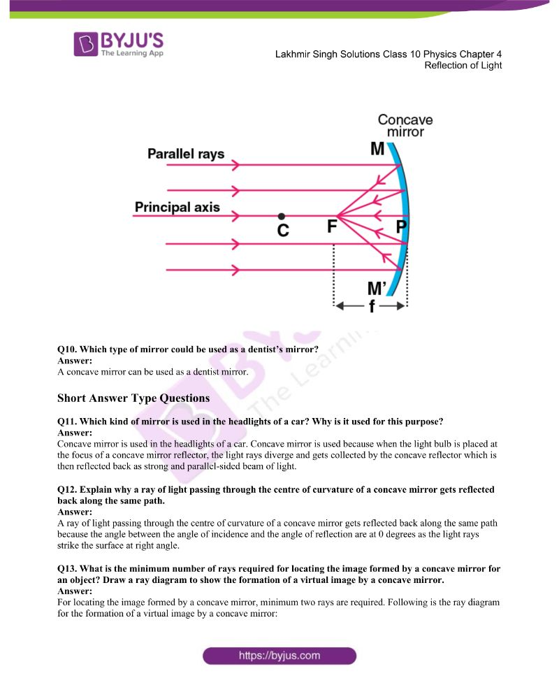 Lakhmir Singh Solutions Class 10 Physics Chapter 4 Reflection Of Light 21
