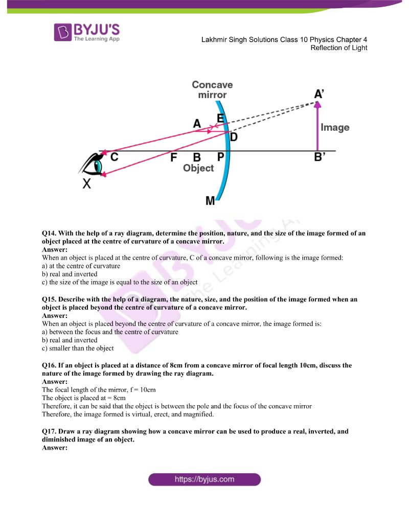Lakhmir Singh Solutions Class 10 Physics Chapter 4 Reflection Of Light 22