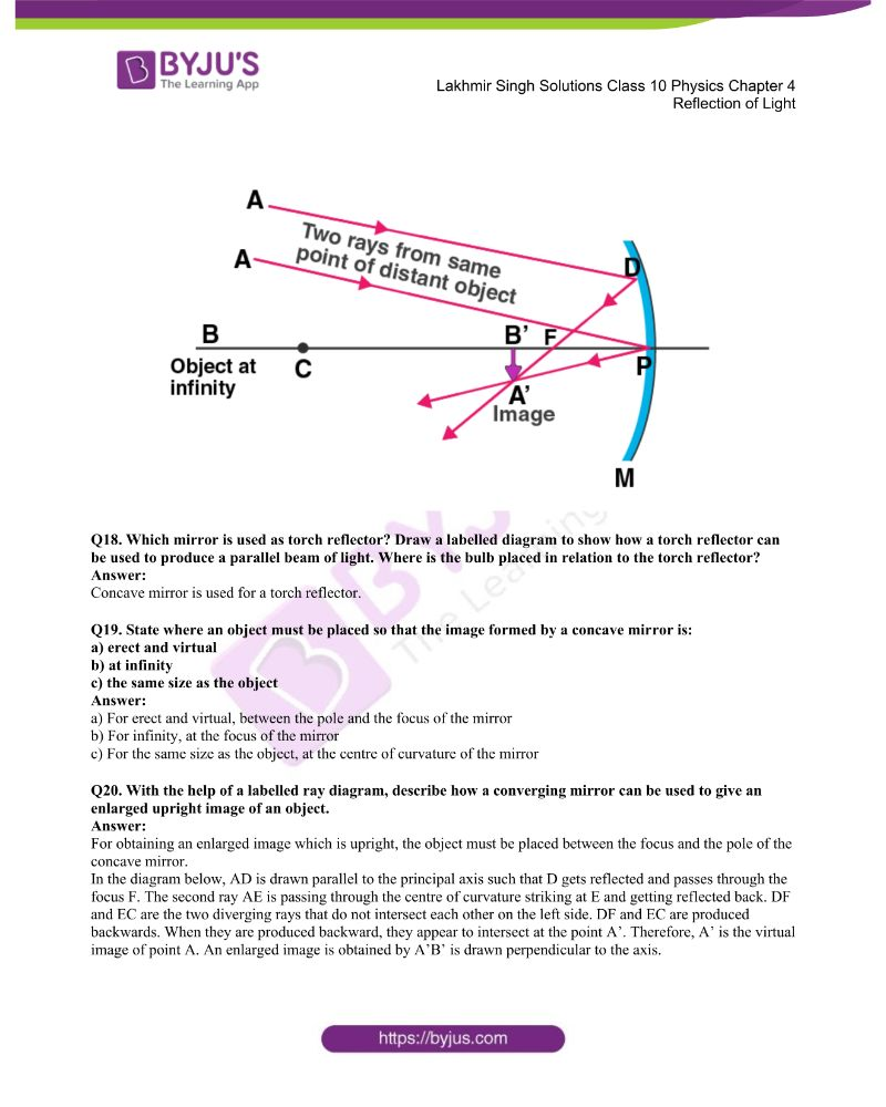 Lakhmir Singh Solutions Class 10 Physics Chapter 4 Reflection Of Light 23