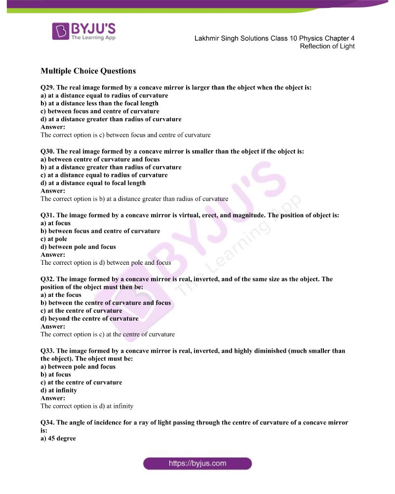 Lakhmir Singh Solutions Class 10 Physics Chapter 4 Reflection Of Light 29