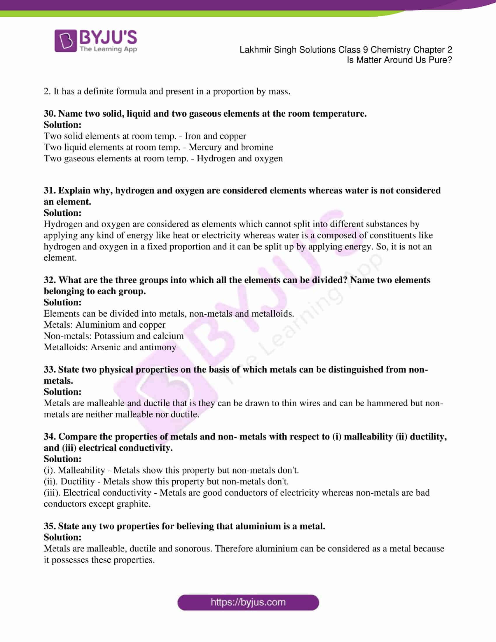 lakhmir singh solutions class 9 chemistry chapter 2 05