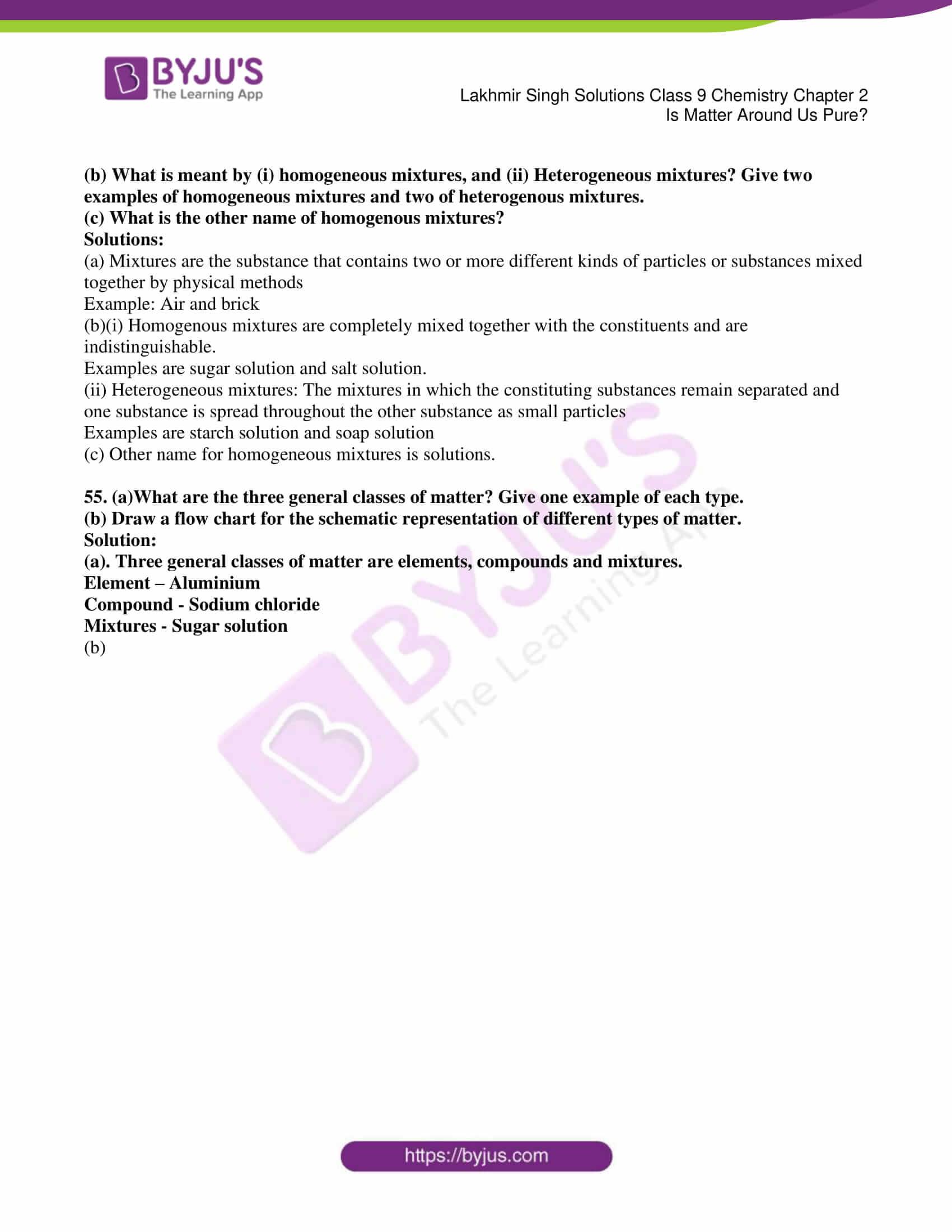 lakhmir singh solutions class 9 chemistry chapter 2 10