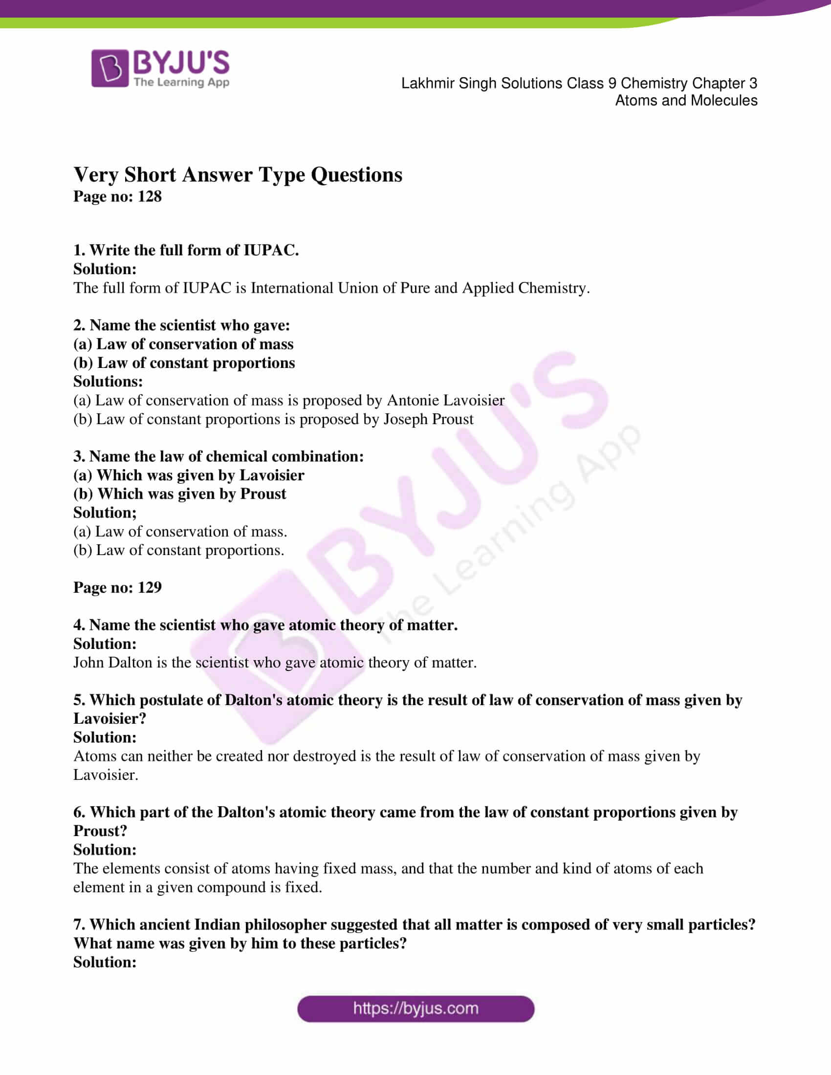 lakhmir singh solutions class 9 chemistry chapter 3 01