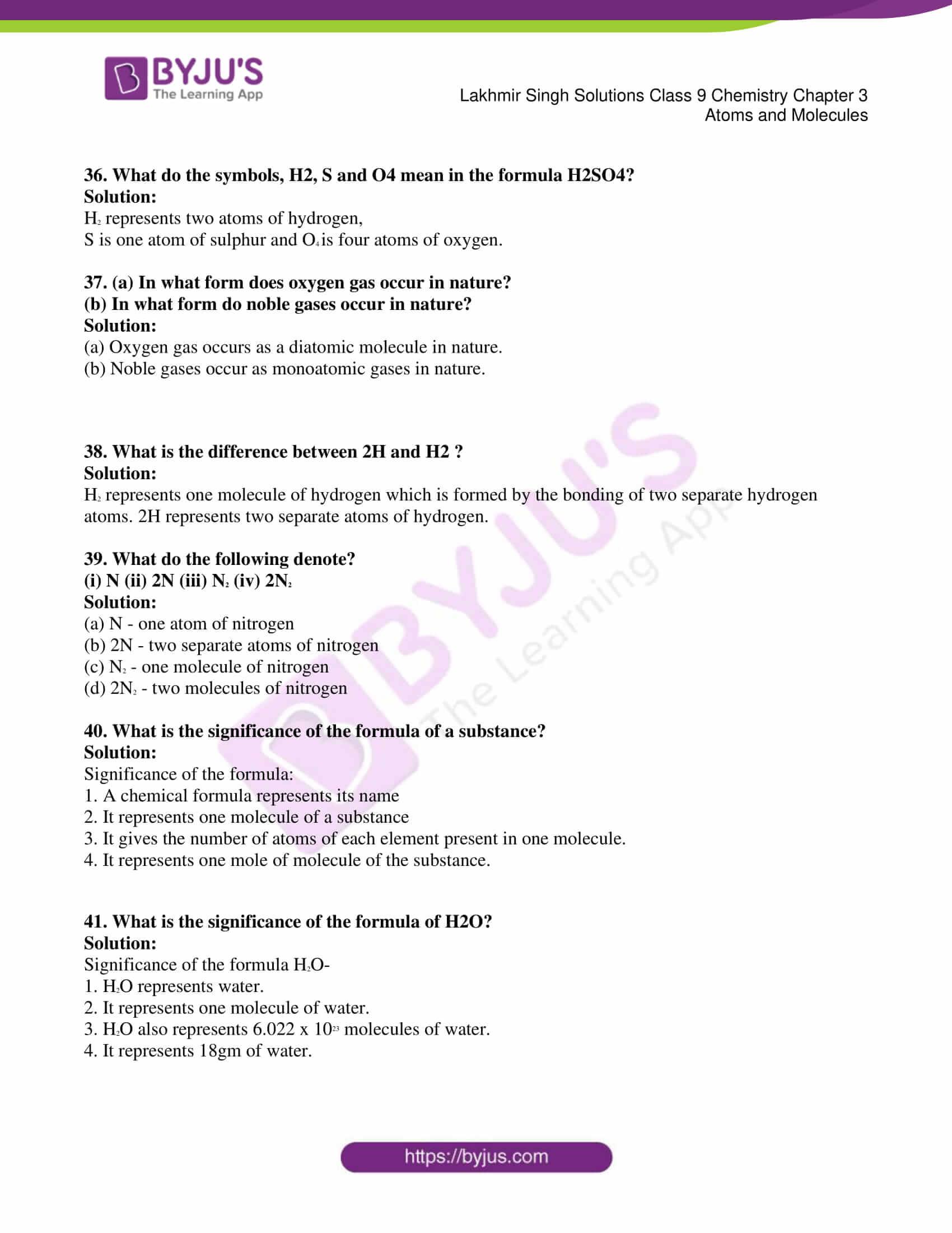 lakhmir singh solutions class 9 chemistry chapter 3 06