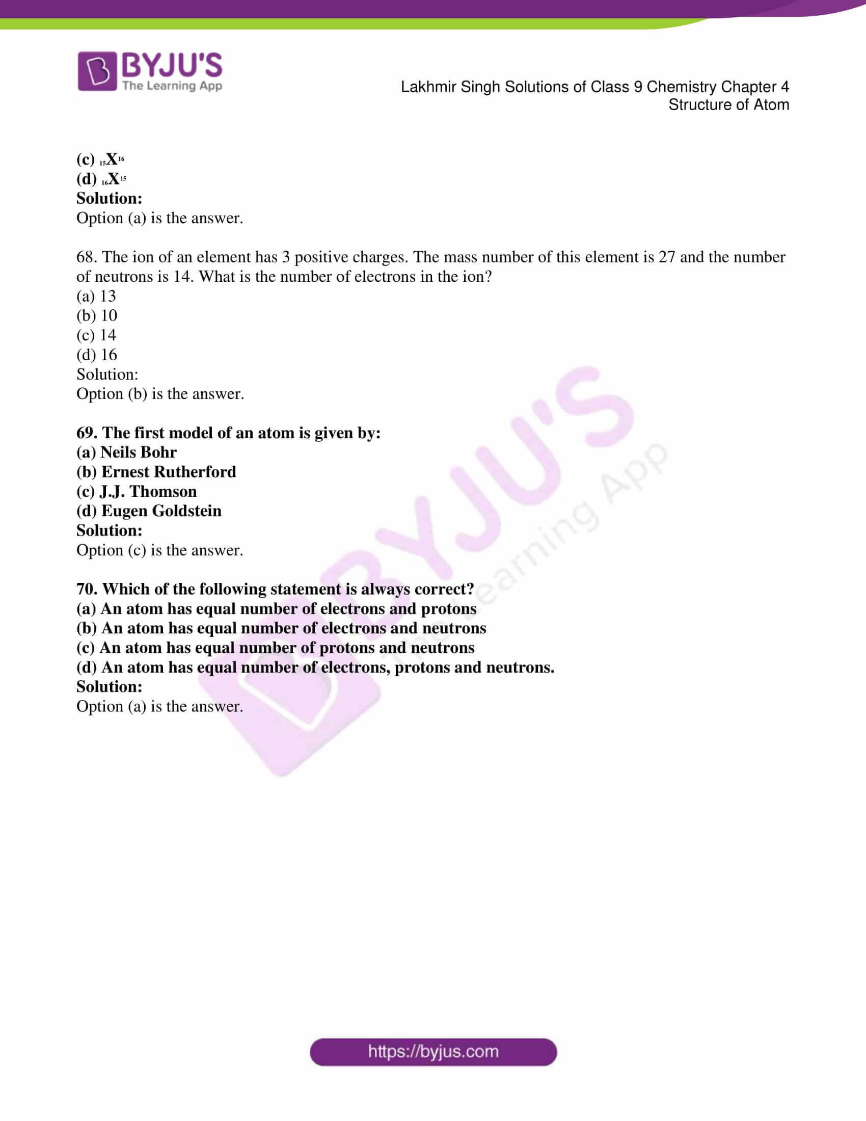 lakhmir singh solutions class 9 chemistry chapter 4 13