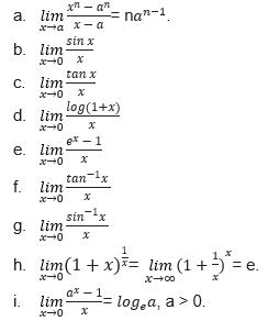 Limits Substitution Methods