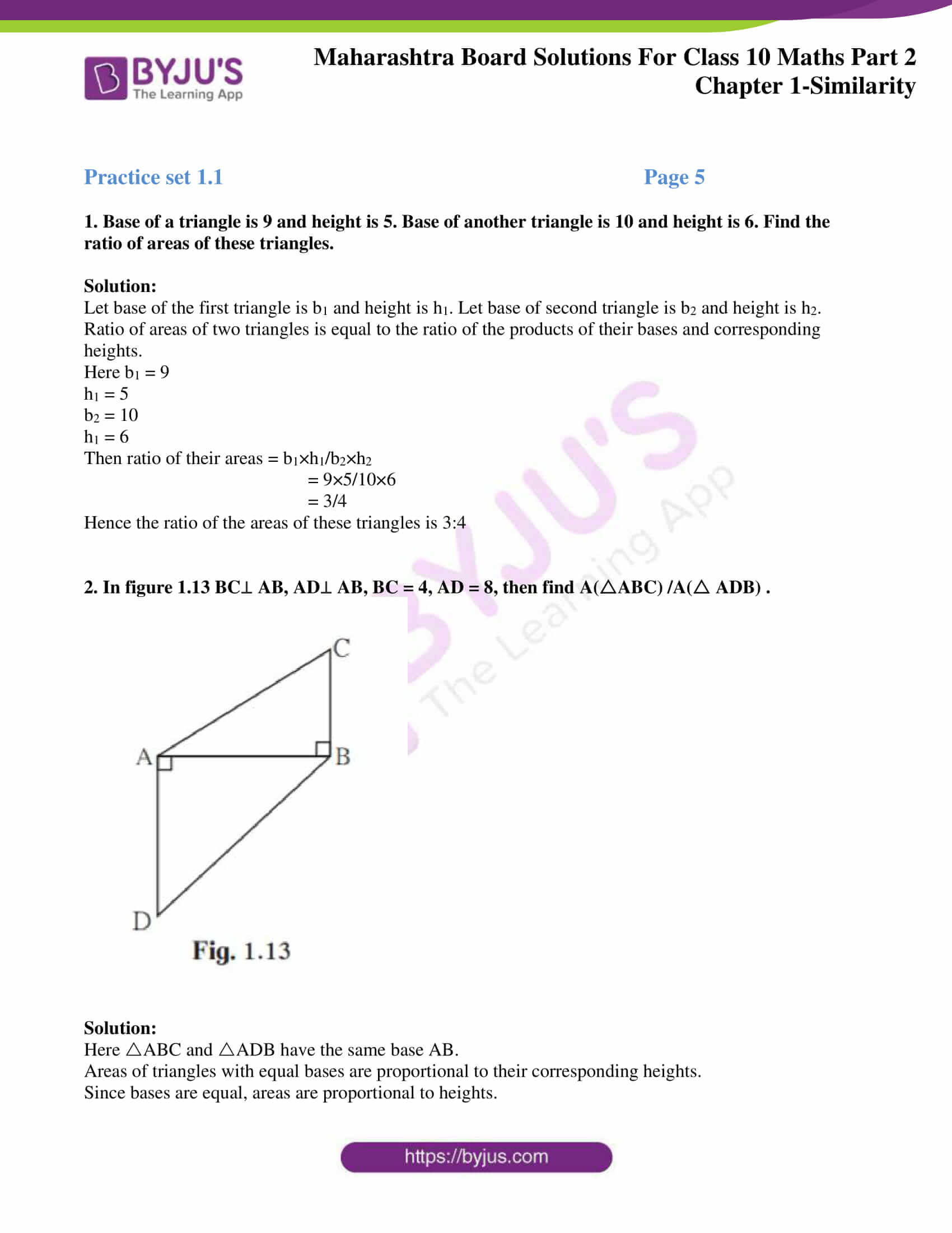 msbshse sol class 10 maths part 2 chapter 1 01