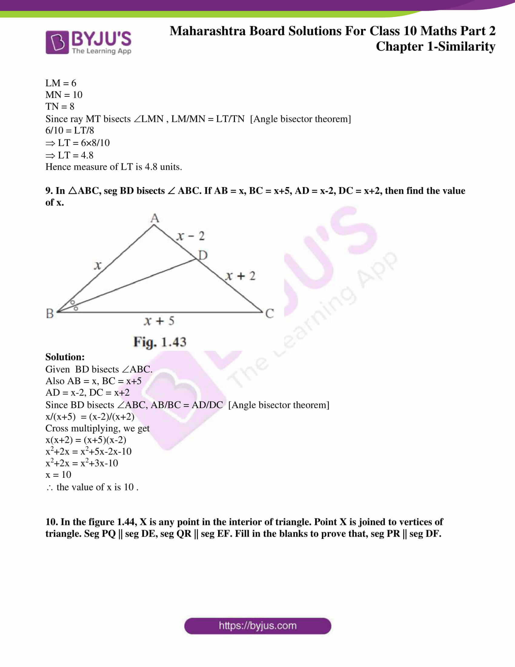 msbshse sol class 10 maths part 2 chapter 1 10