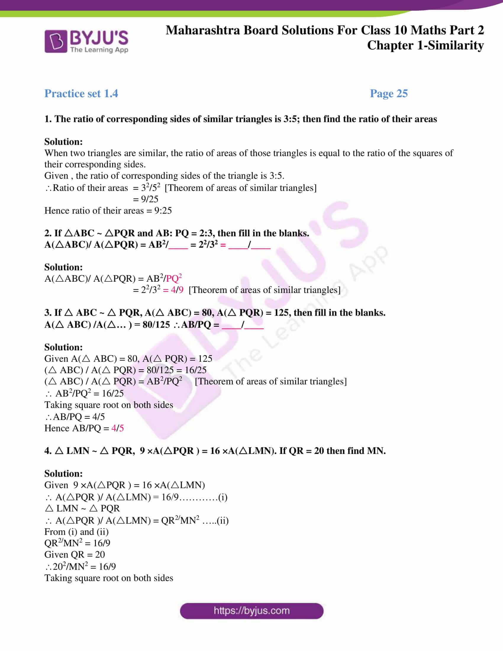 msbshse sol class 10 maths part 2 chapter 1 16