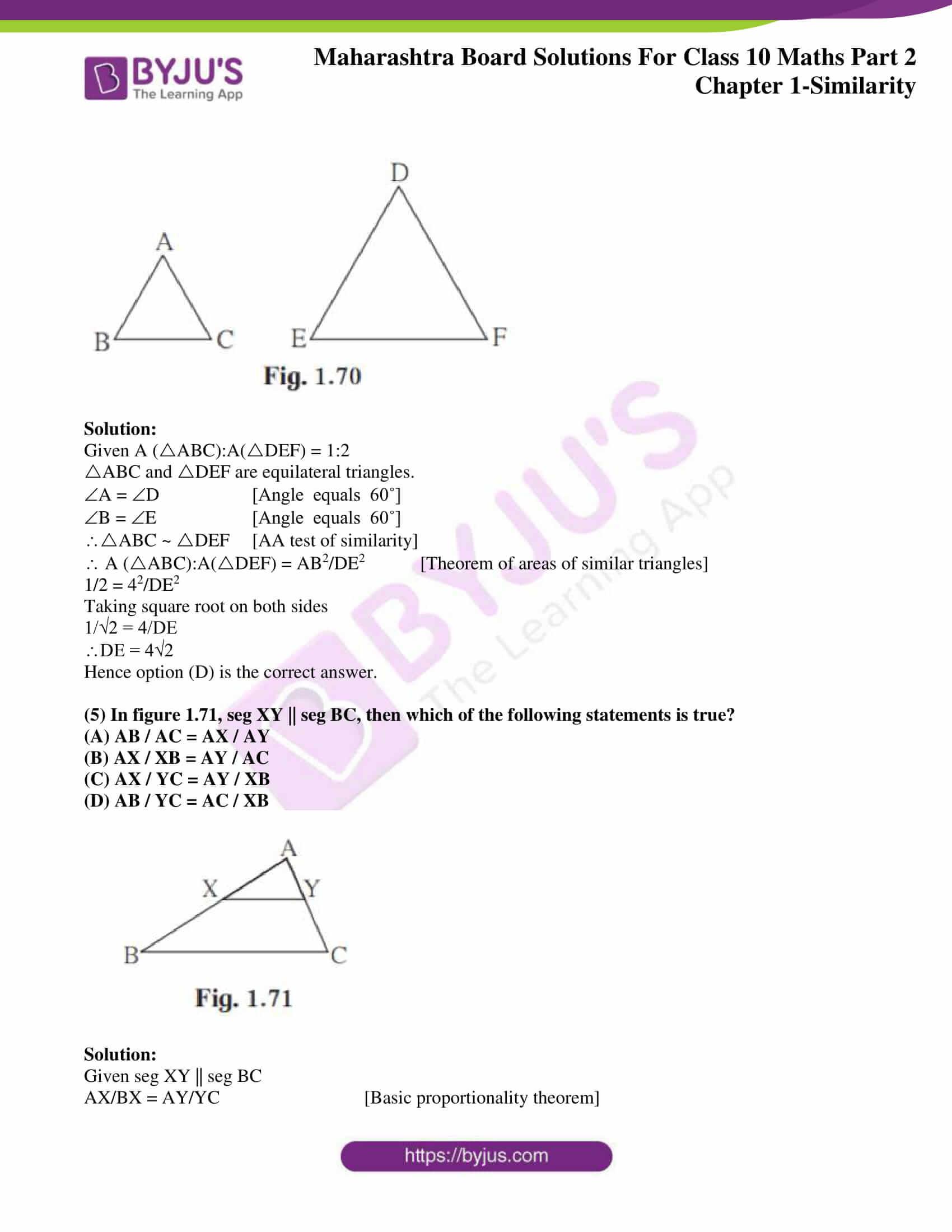 msbshse sol class 10 maths part 2 chapter 1 20