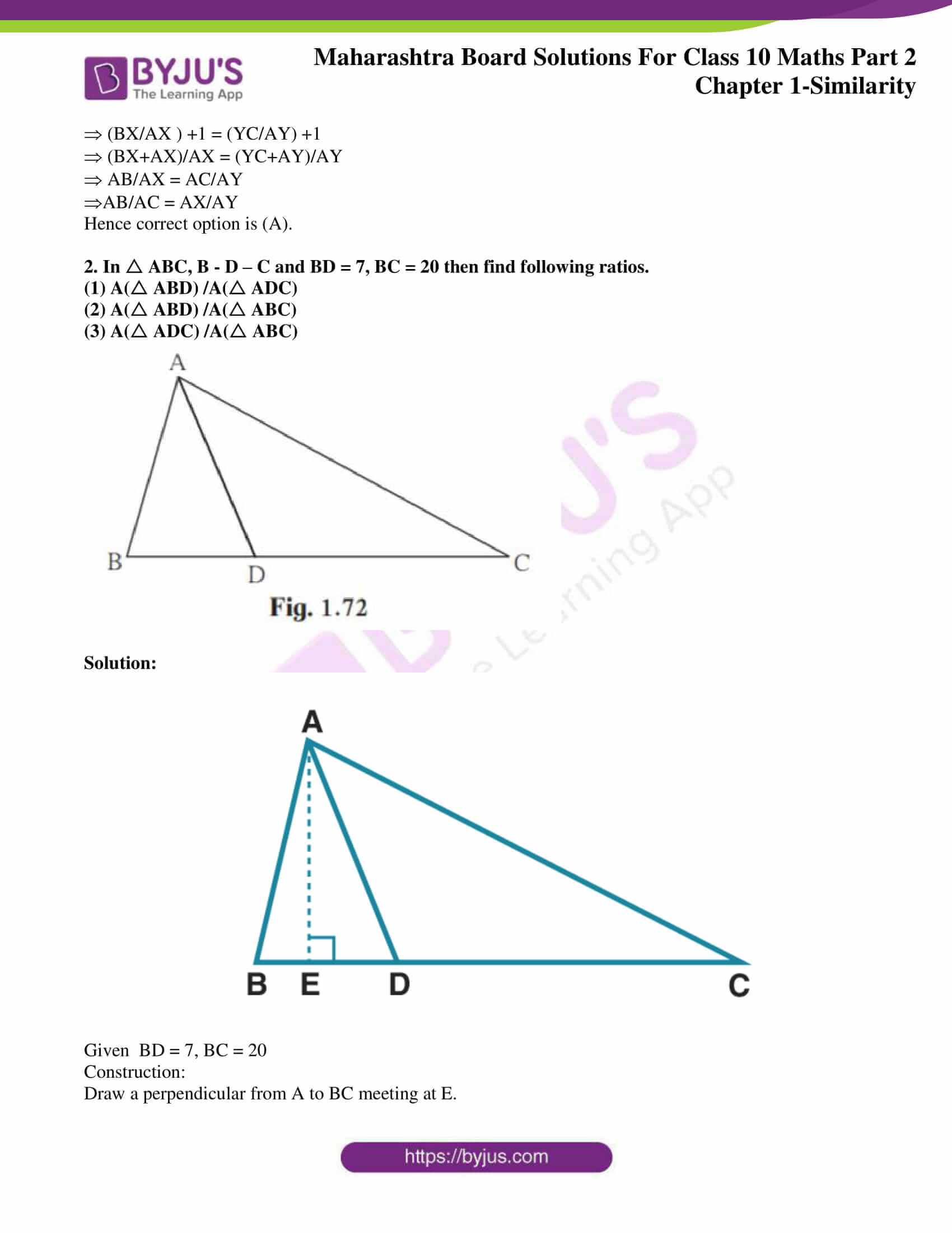 msbshse sol class 10 maths part 2 chapter 1 21