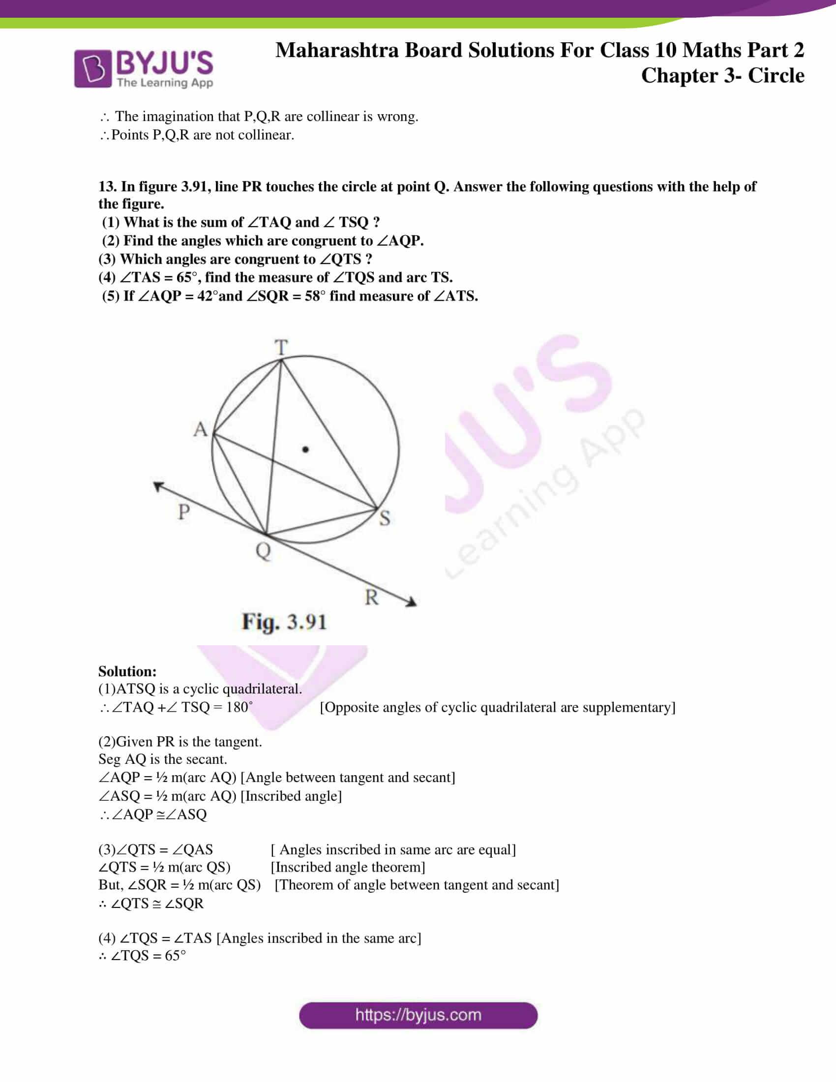 msbshse sol class 10 maths part 2 chapter 3 33