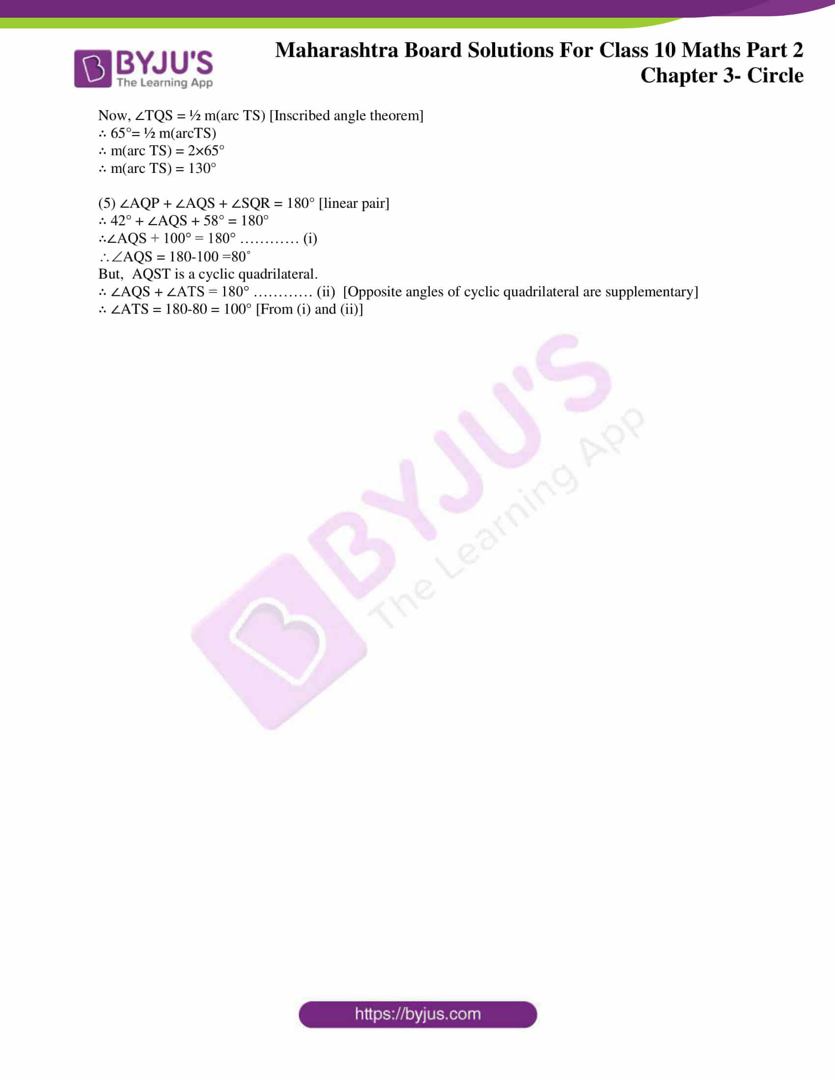 msbshse sol class 10 maths part 2 chapter 3 34