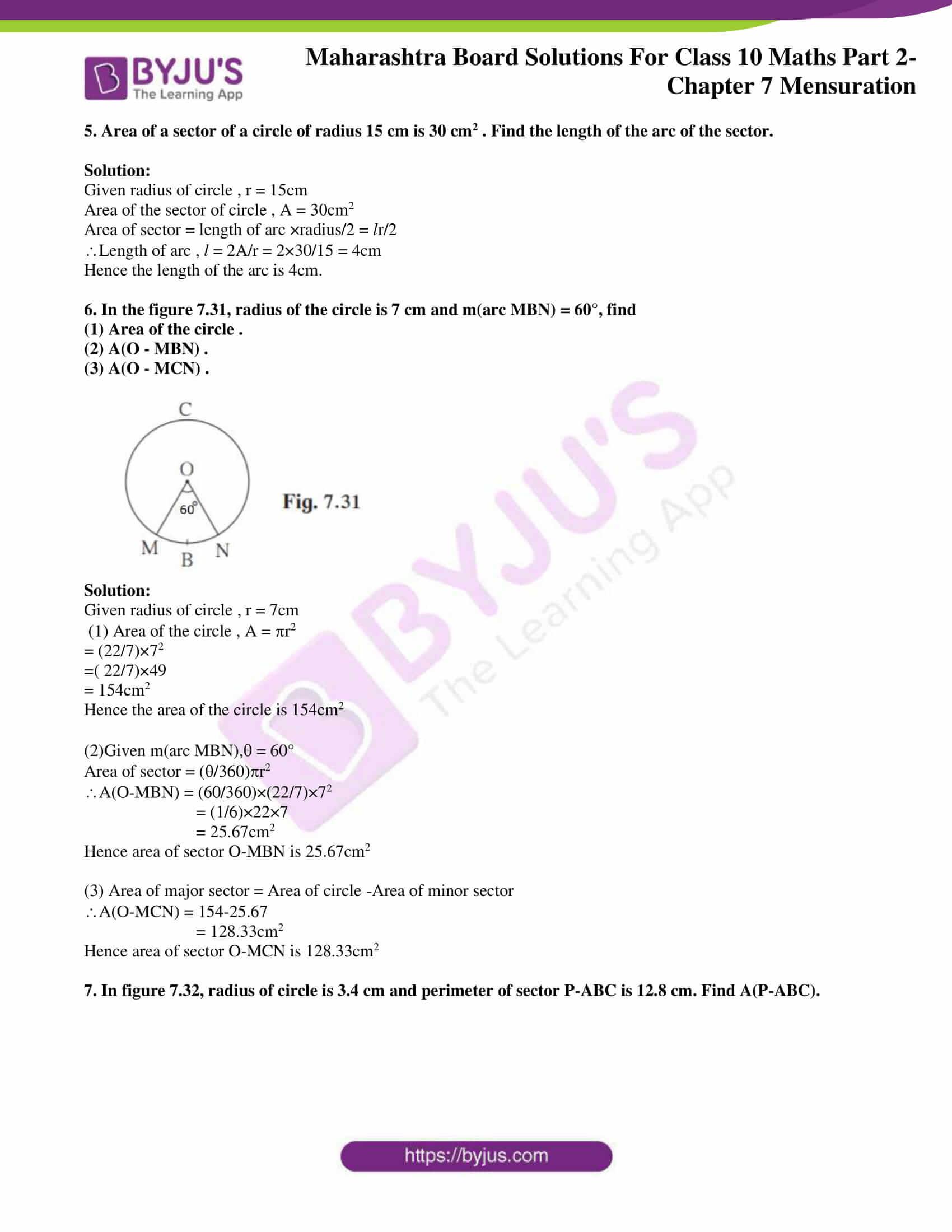 msbshse sol class 10 maths part 2 chapter 7 12