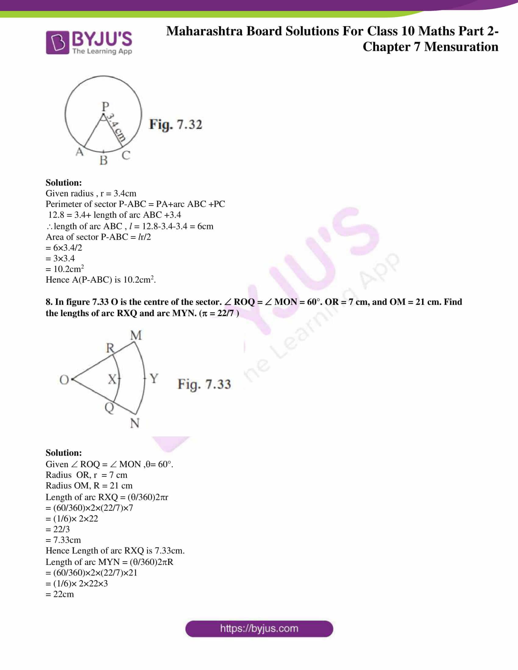 msbshse sol class 10 maths part 2 chapter 7 13