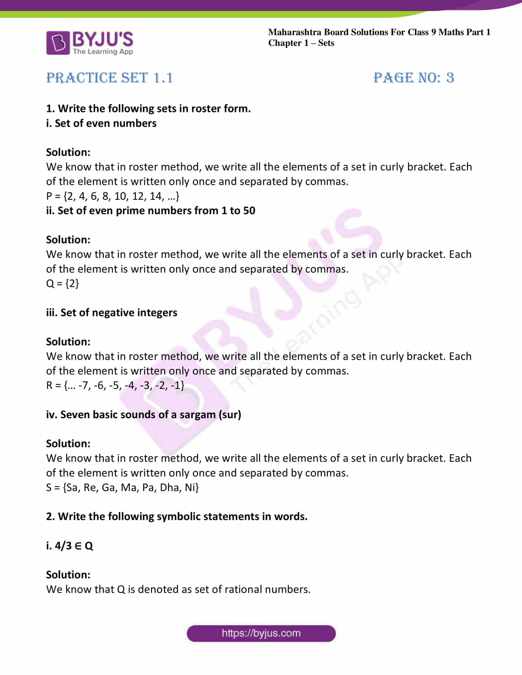 msbshse sol class 9 maths part 1 chapter 1 sets 01