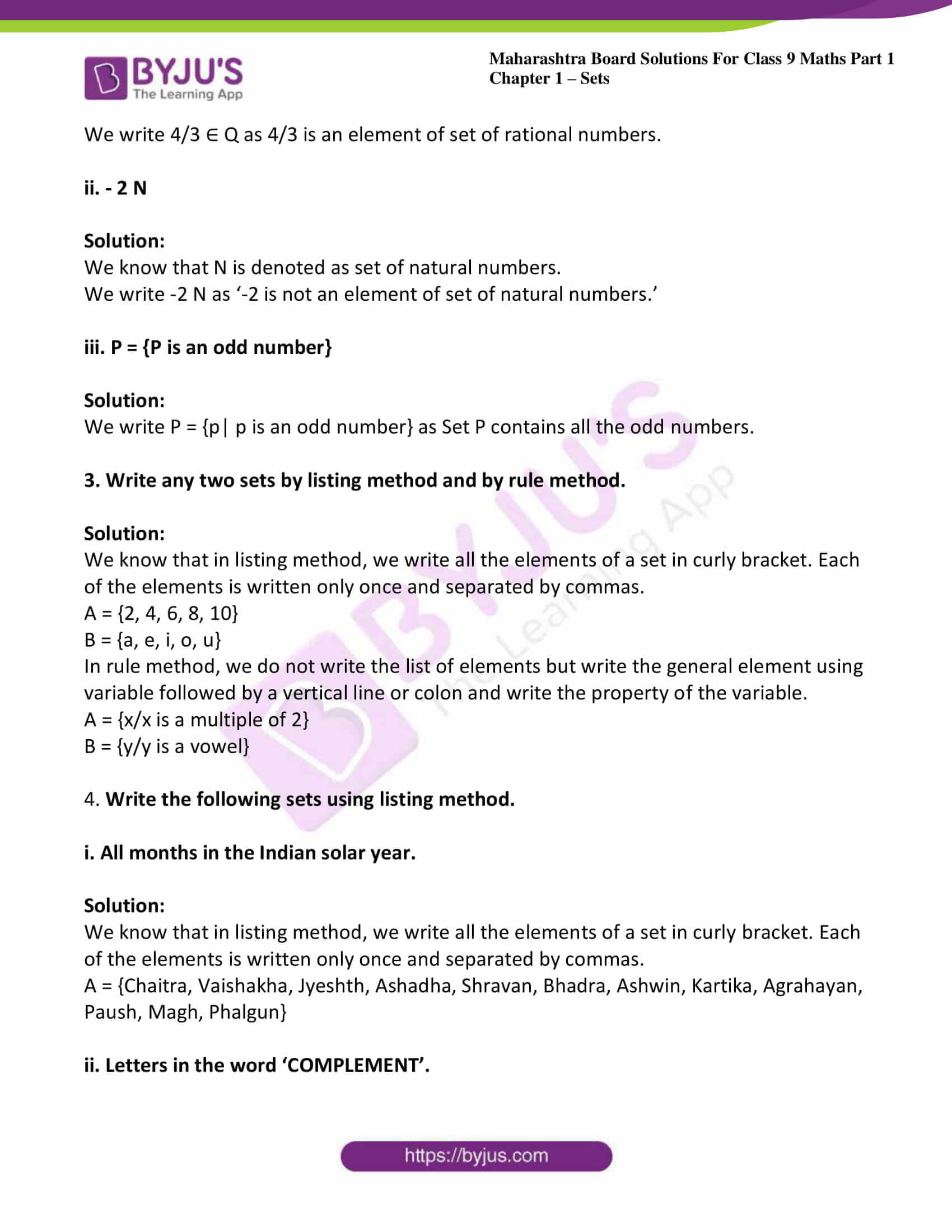 msbshse sol class 9 maths part 1 chapter 1 sets 02