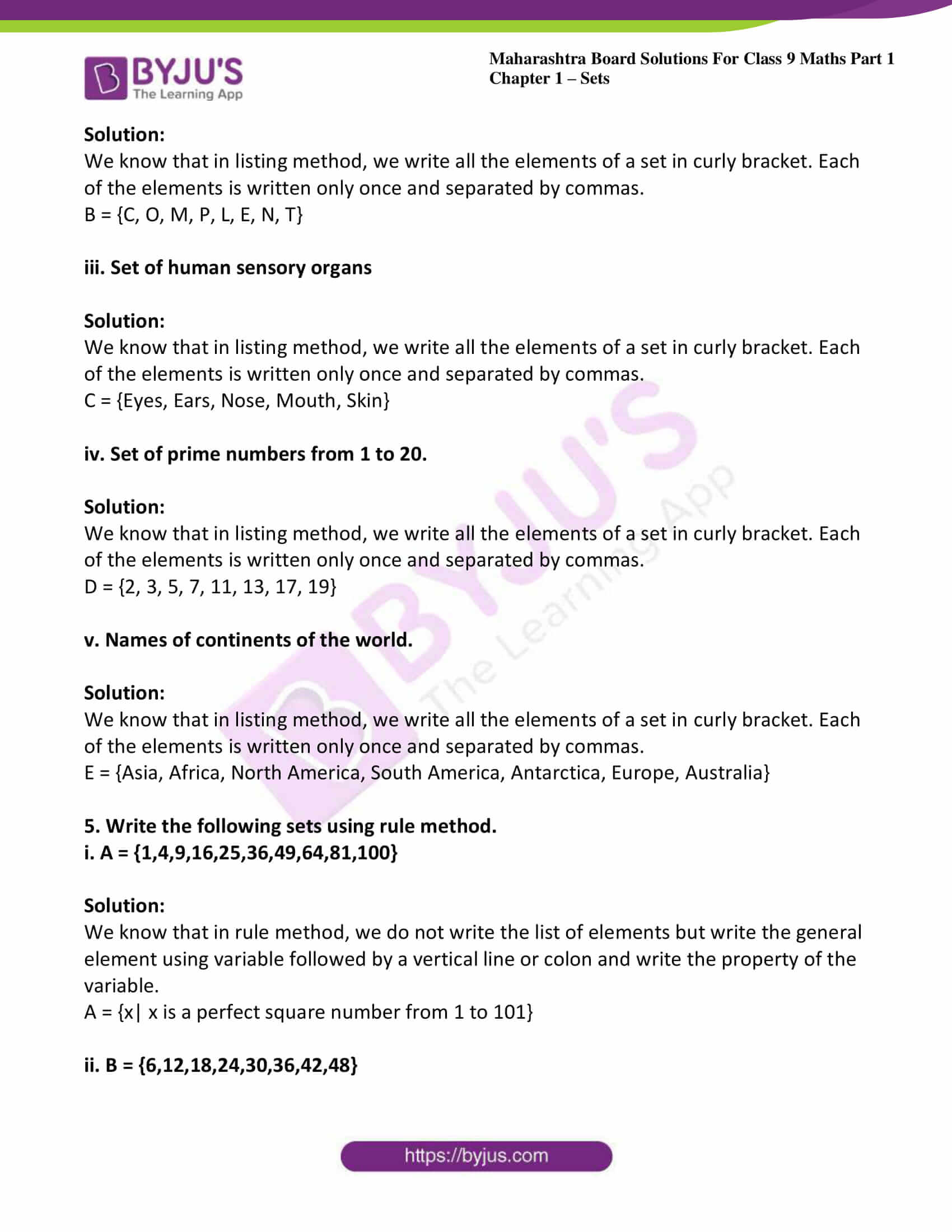 msbshse sol class 9 maths part 1 chapter 1 sets 03