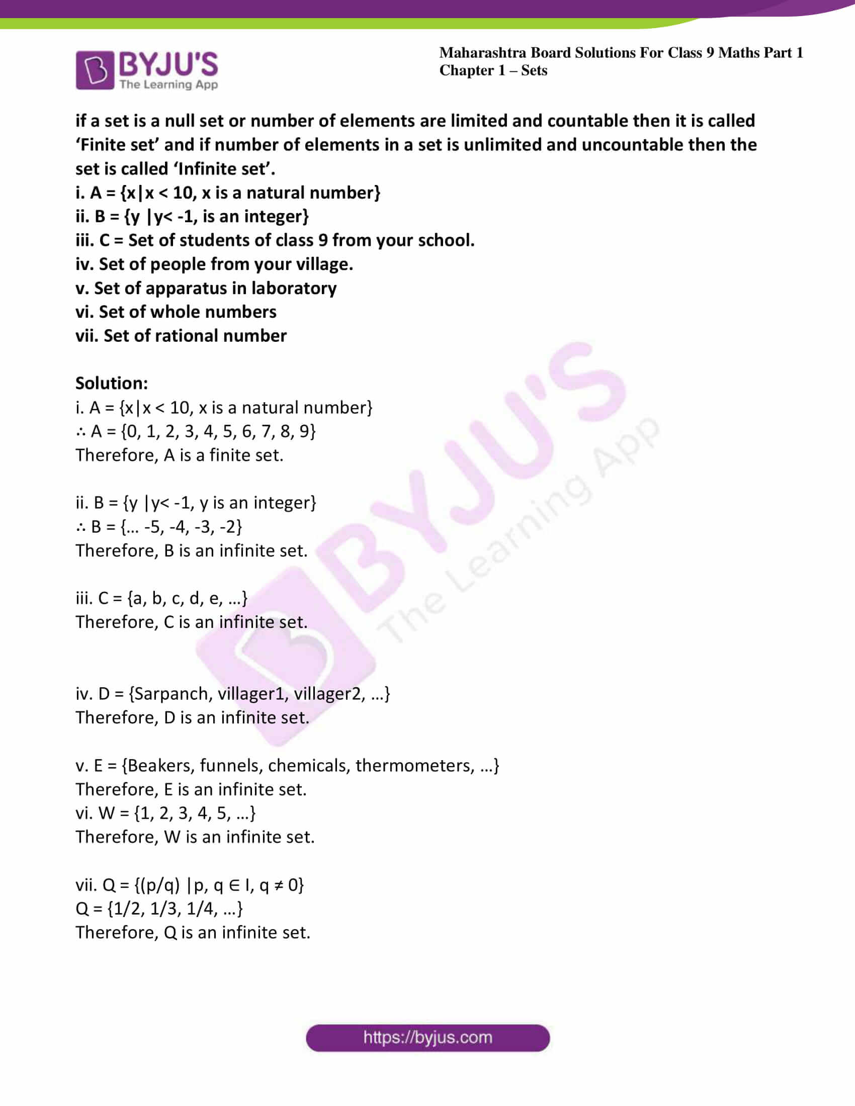 msbshse sol class 9 maths part 1 chapter 1 sets 07