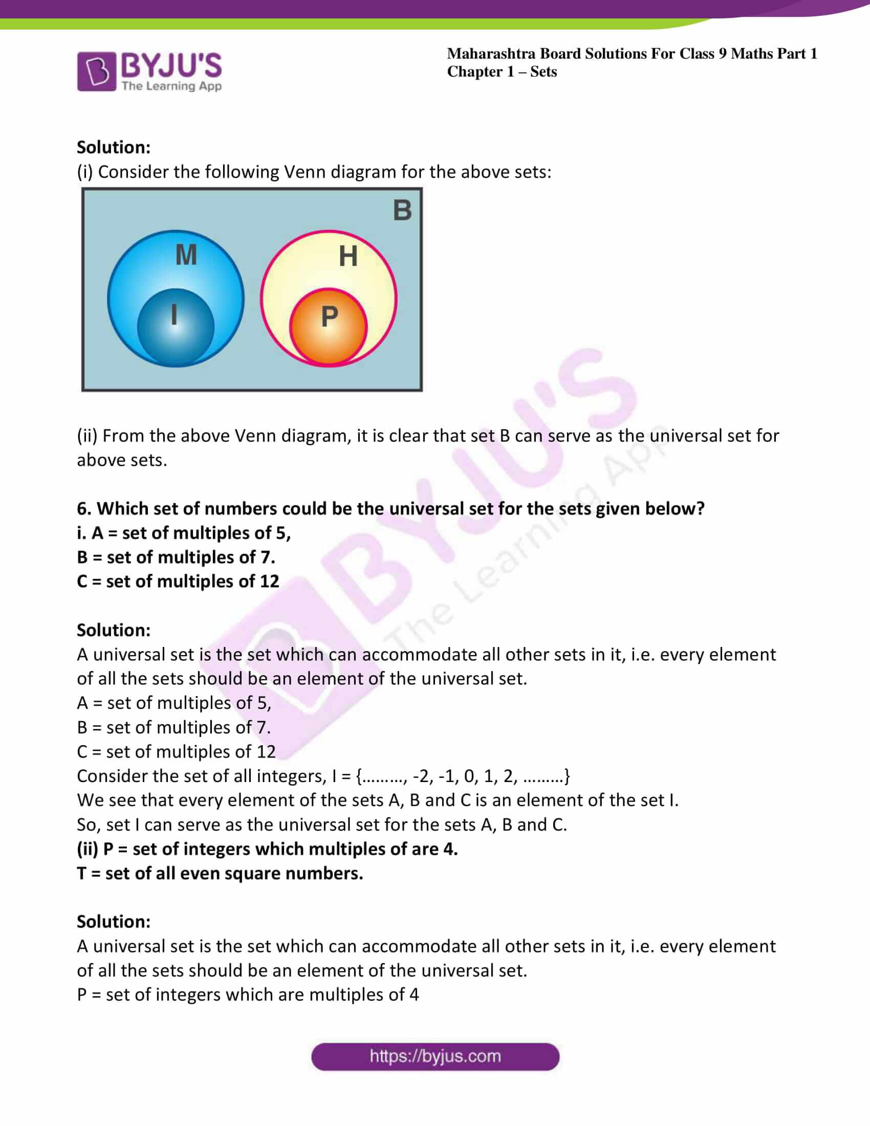 msbshse sol class 9 maths part 1 chapter 1 sets 11