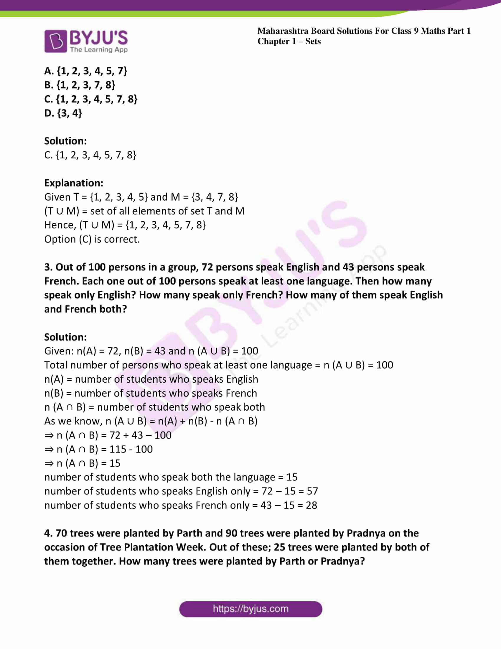 msbshse sol class 9 maths part 1 chapter 1 sets 21