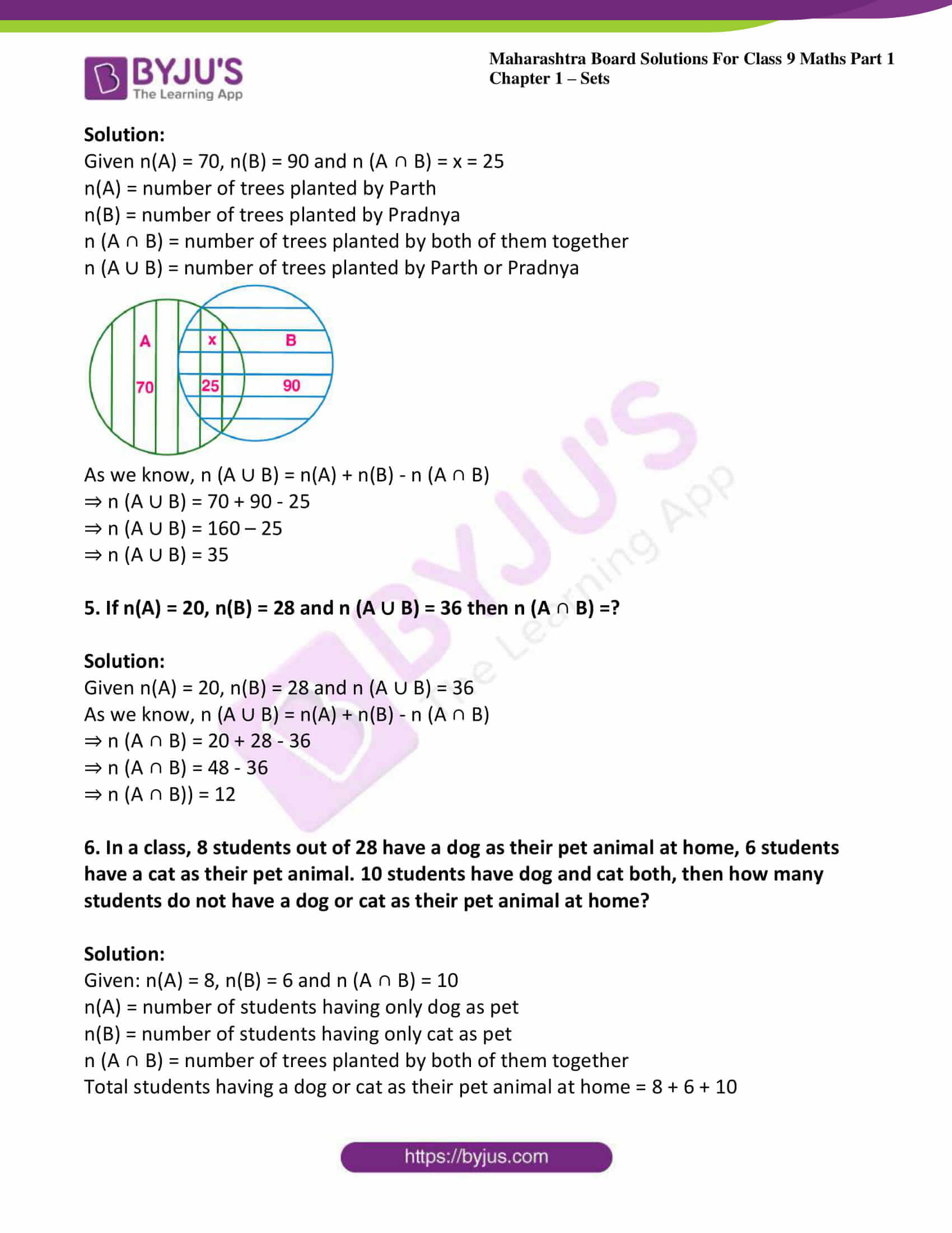 msbshse sol class 9 maths part 1 chapter 1 sets 22