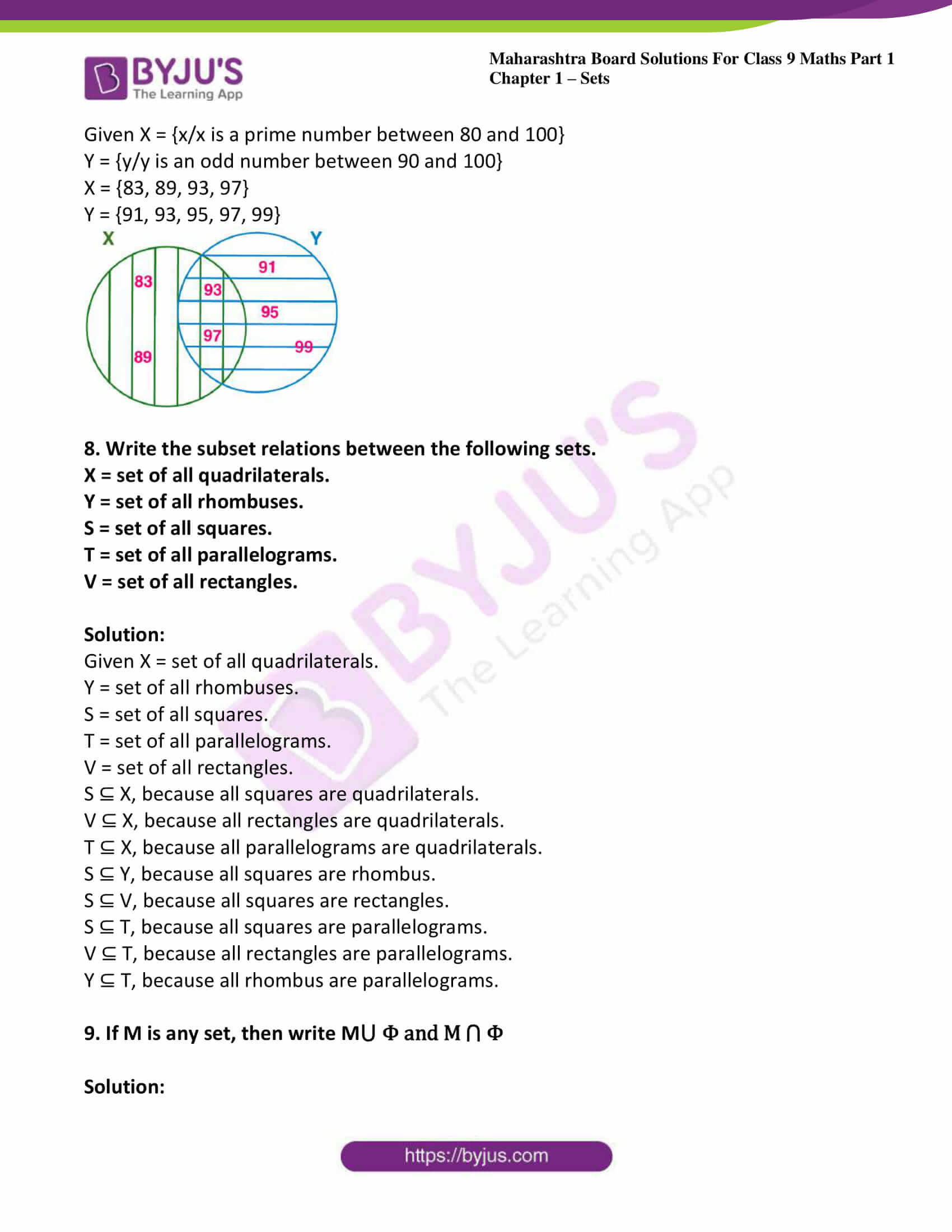 msbshse sol class 9 maths part 1 chapter 1 sets 24