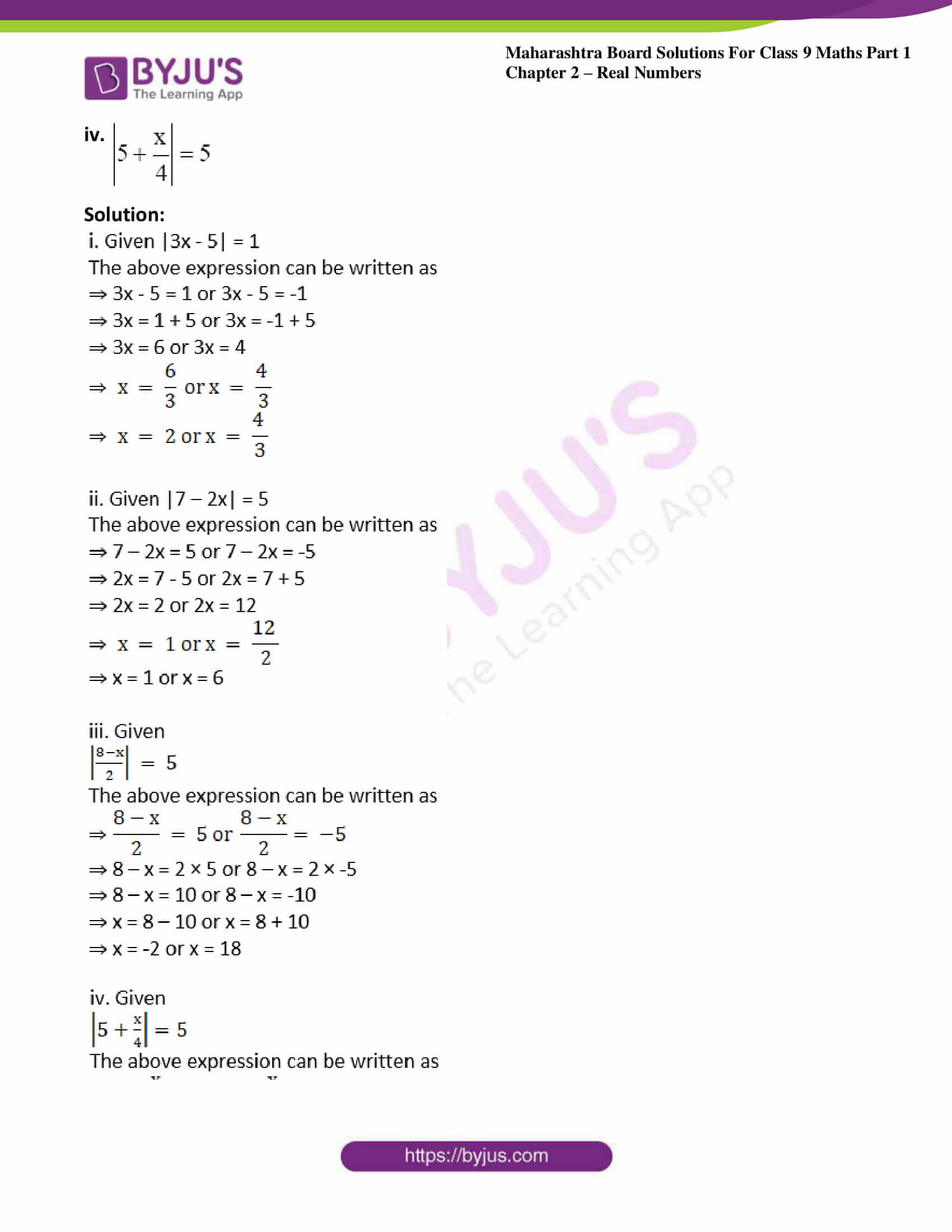 msbshse sol class 9 maths part 1 chapter 2 real numbers 22